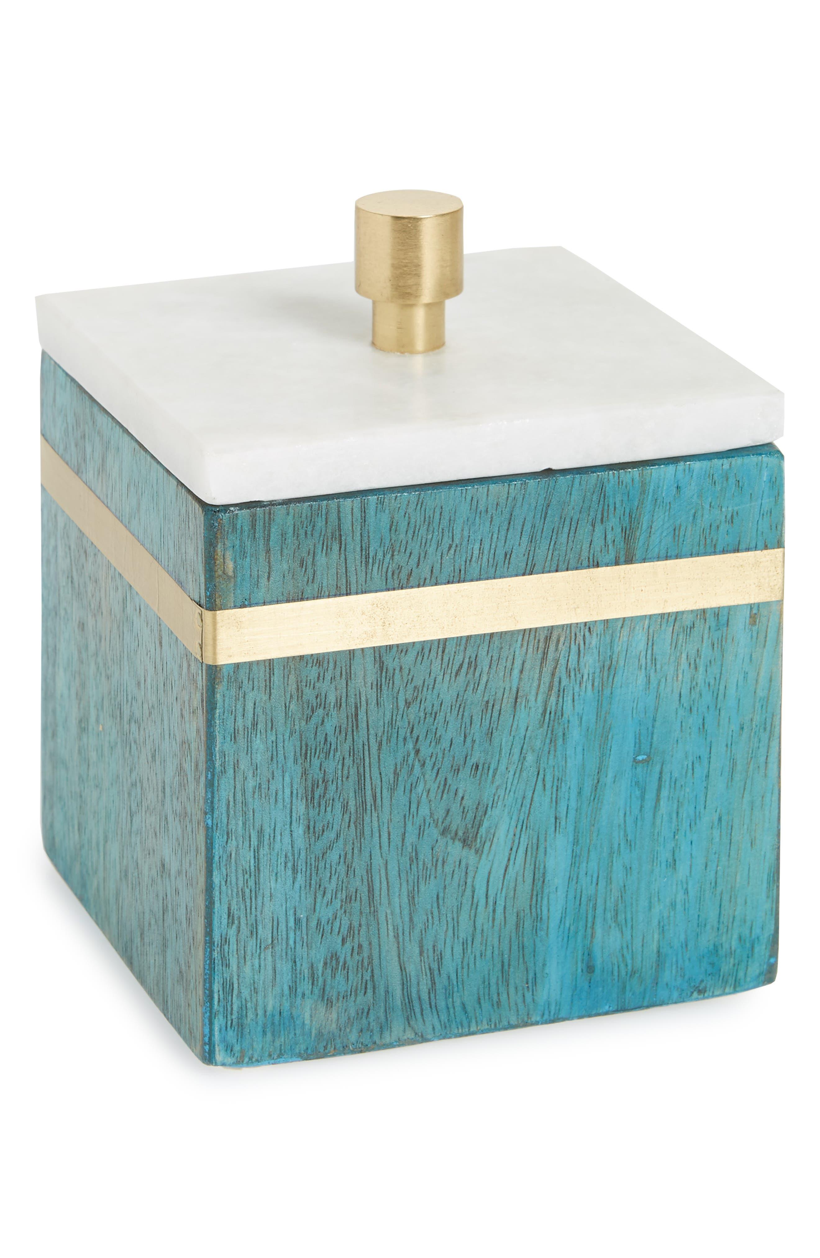 Marble Trinket Box,                         Main,                         color, White