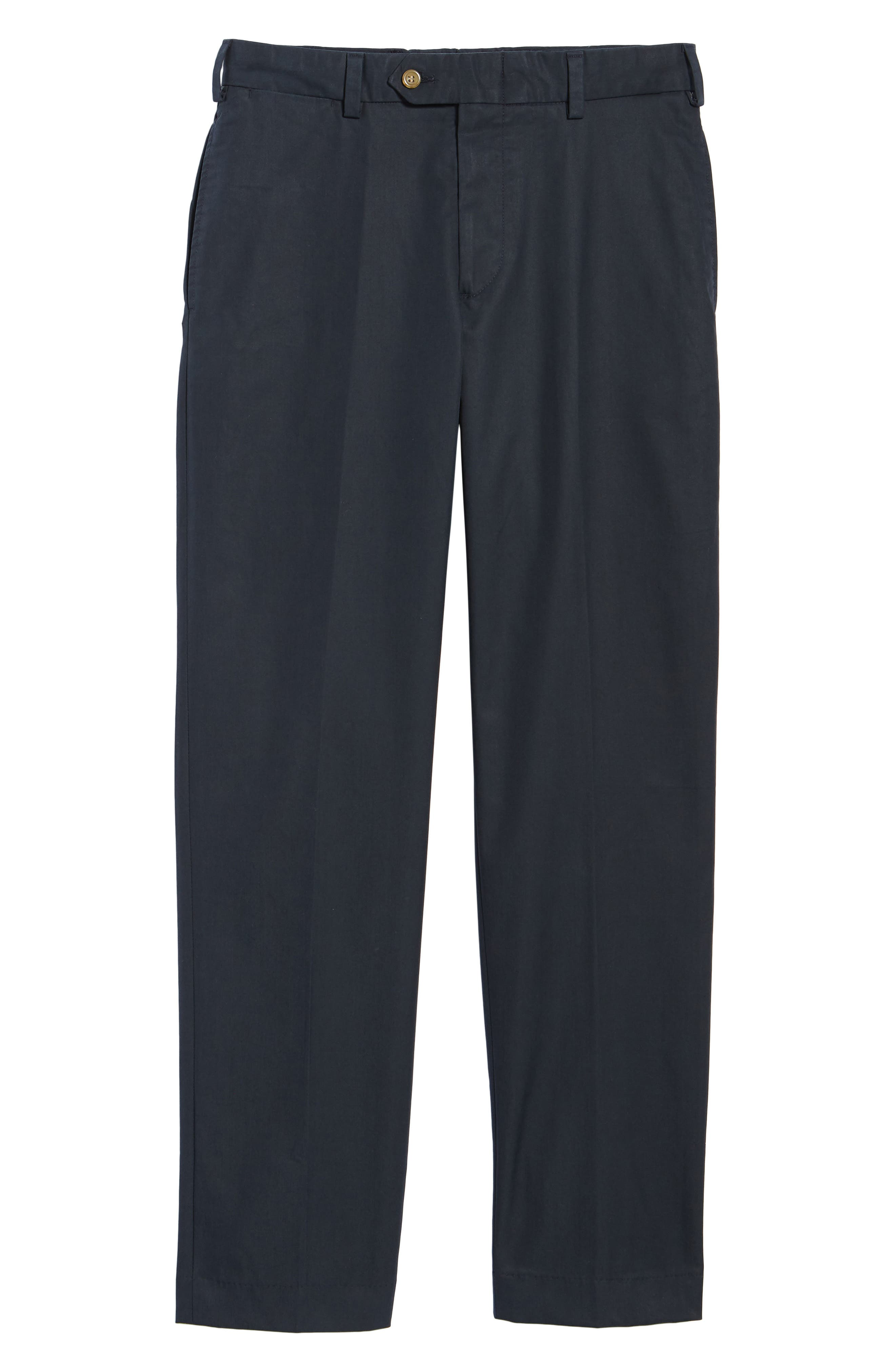 M2 Classic Fit Flat Front Travel Twill Pants,                             Alternate thumbnail 6, color,                             Navy