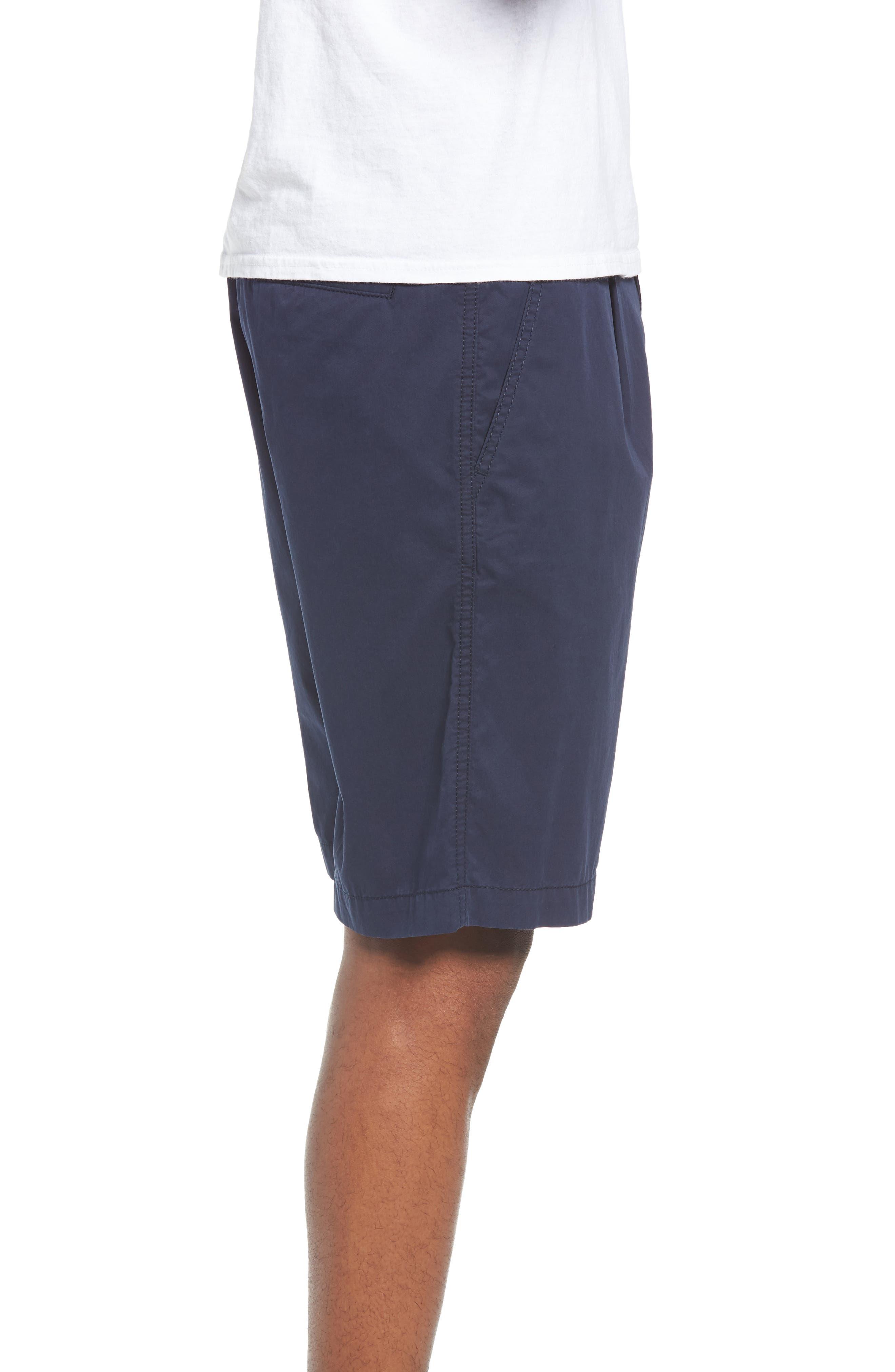 Pleated Chino Shorts,                             Alternate thumbnail 5, color,                             Navy Peacoat