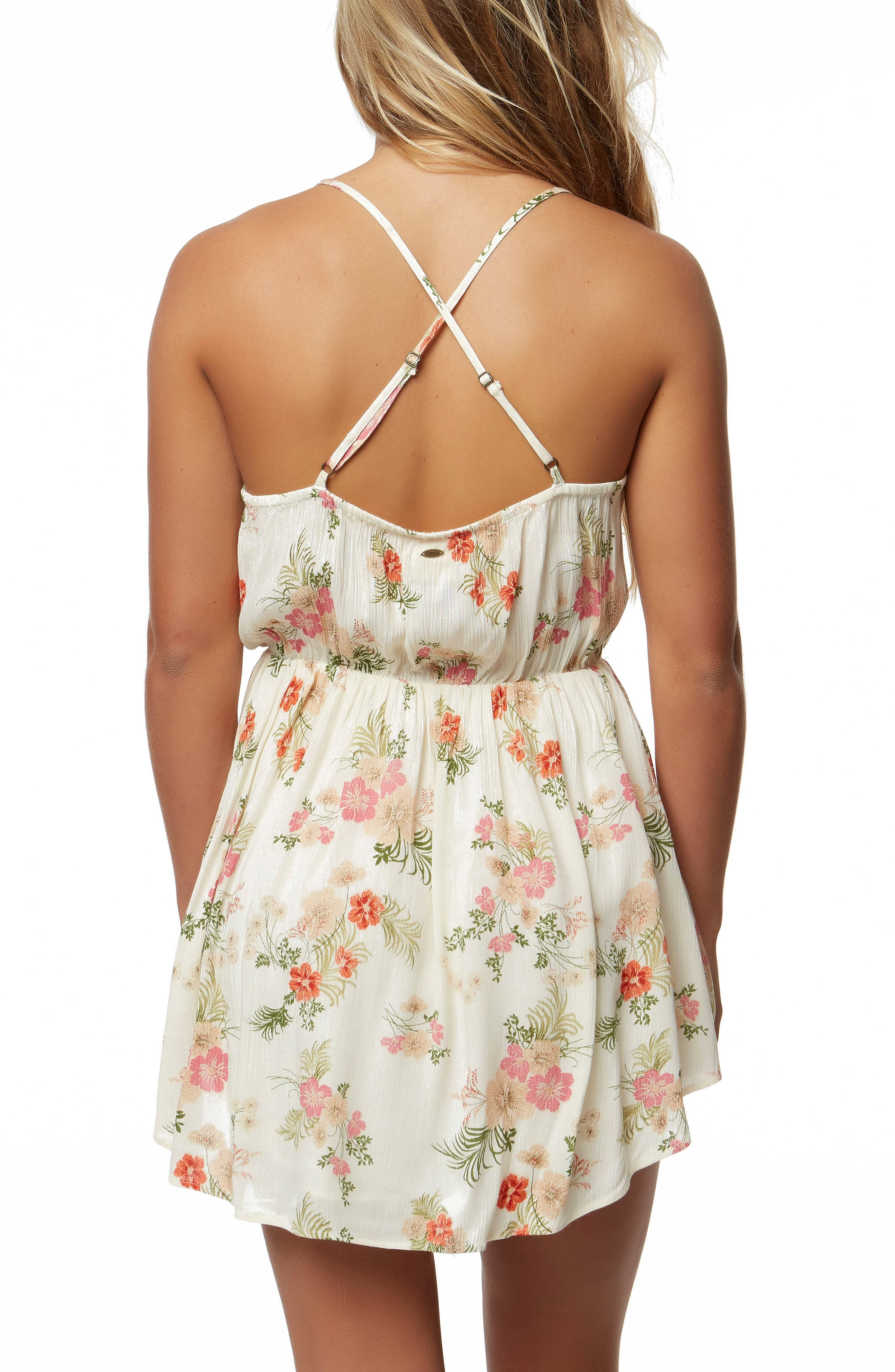 Ashby Print Dress,                             Alternate thumbnail 2, color,                             Naked
