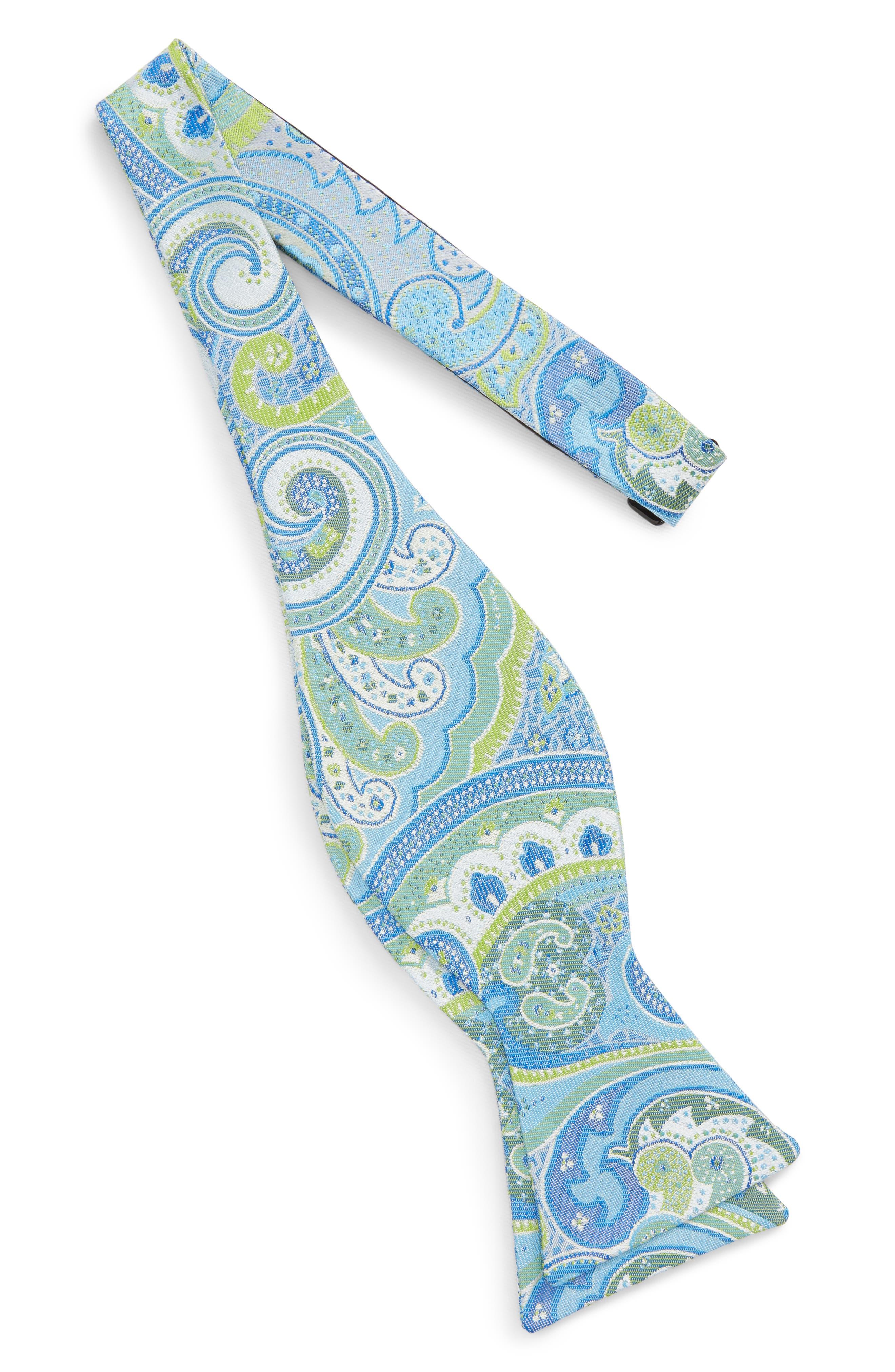 Paisley Silk Bow Tie,                             Alternate thumbnail 2, color,                             Light Green