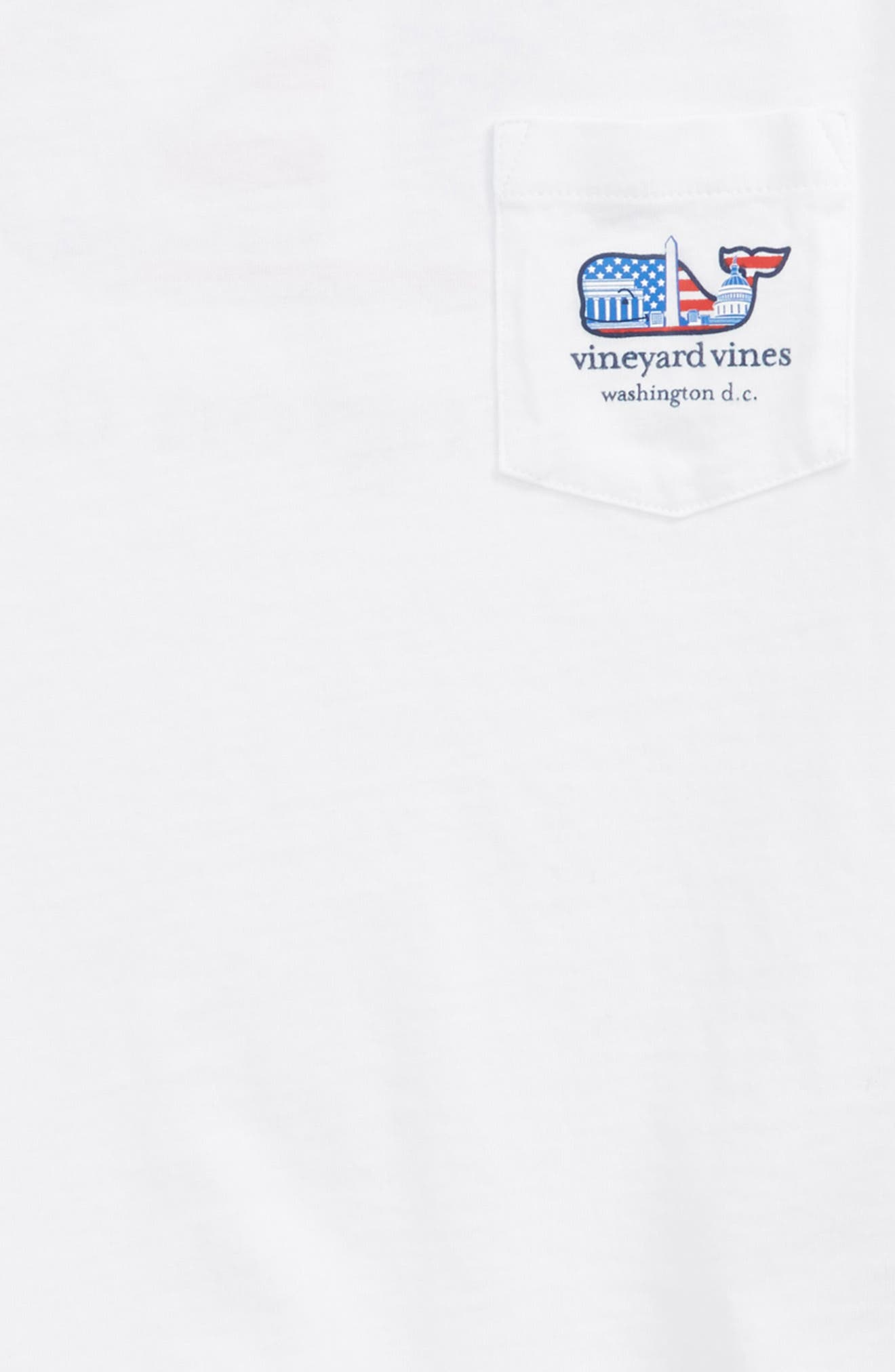 Washington Whale Pocket T-Shirt,                             Alternate thumbnail 3, color,                             White Cap