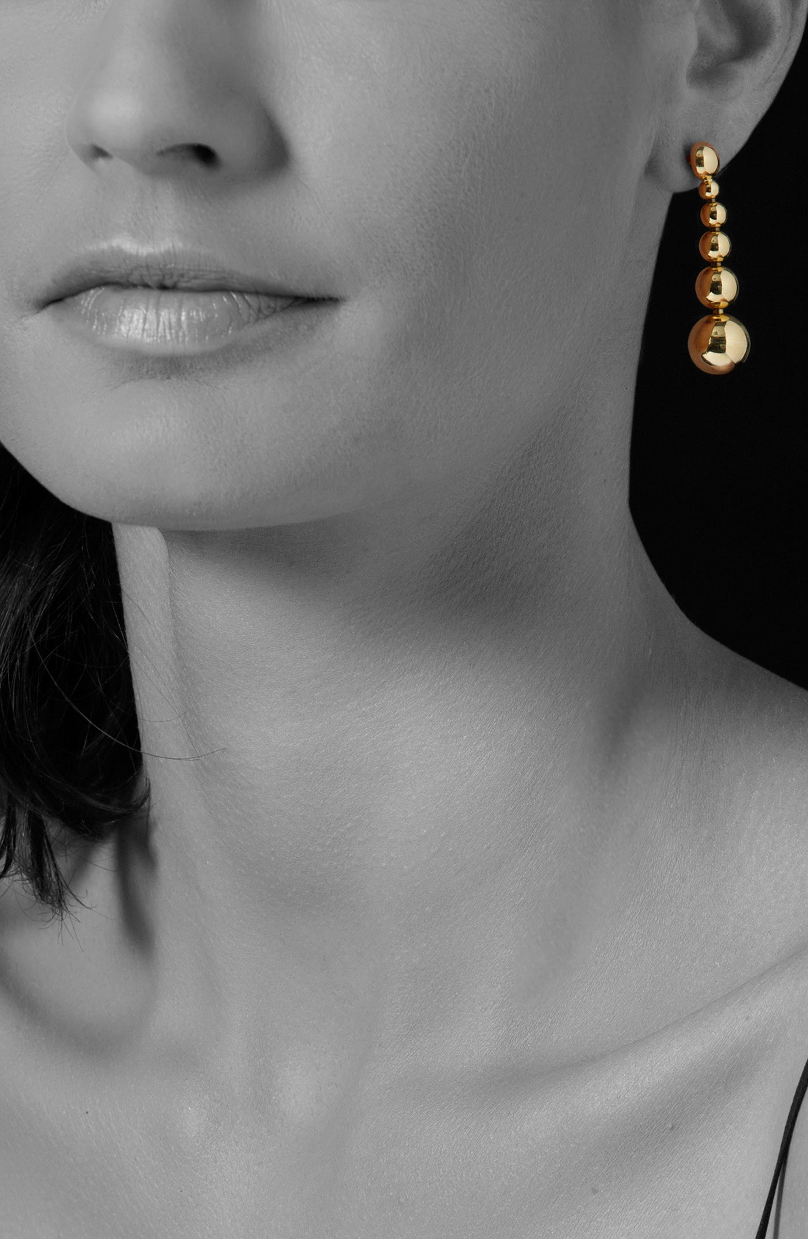 Caviar Ball Drop Dangle Earrings,                             Alternate thumbnail 2, color,                             Gold