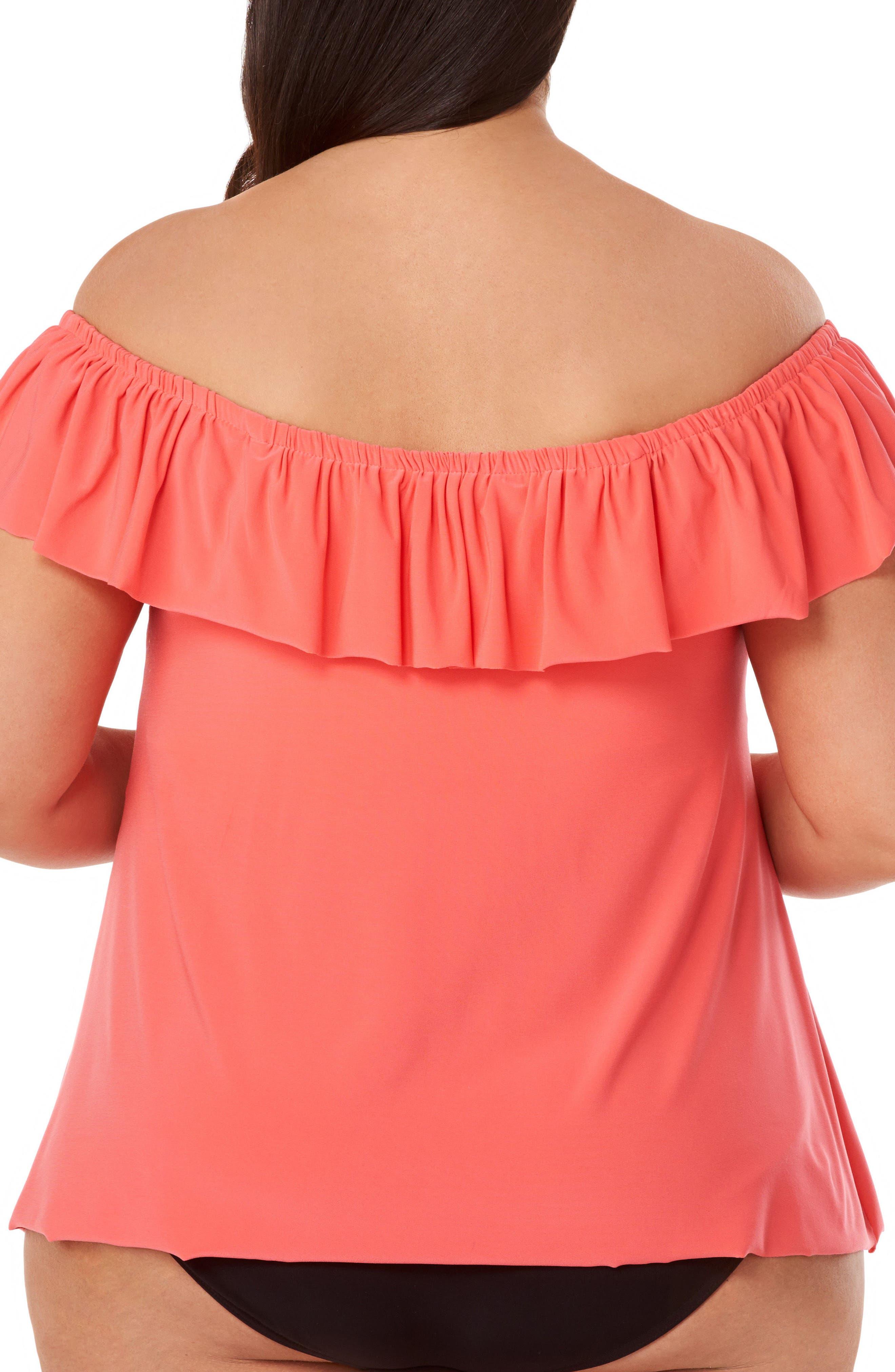 Alternate Image 2  - Magicsuit® Kris Tankini Top (Plus Size)