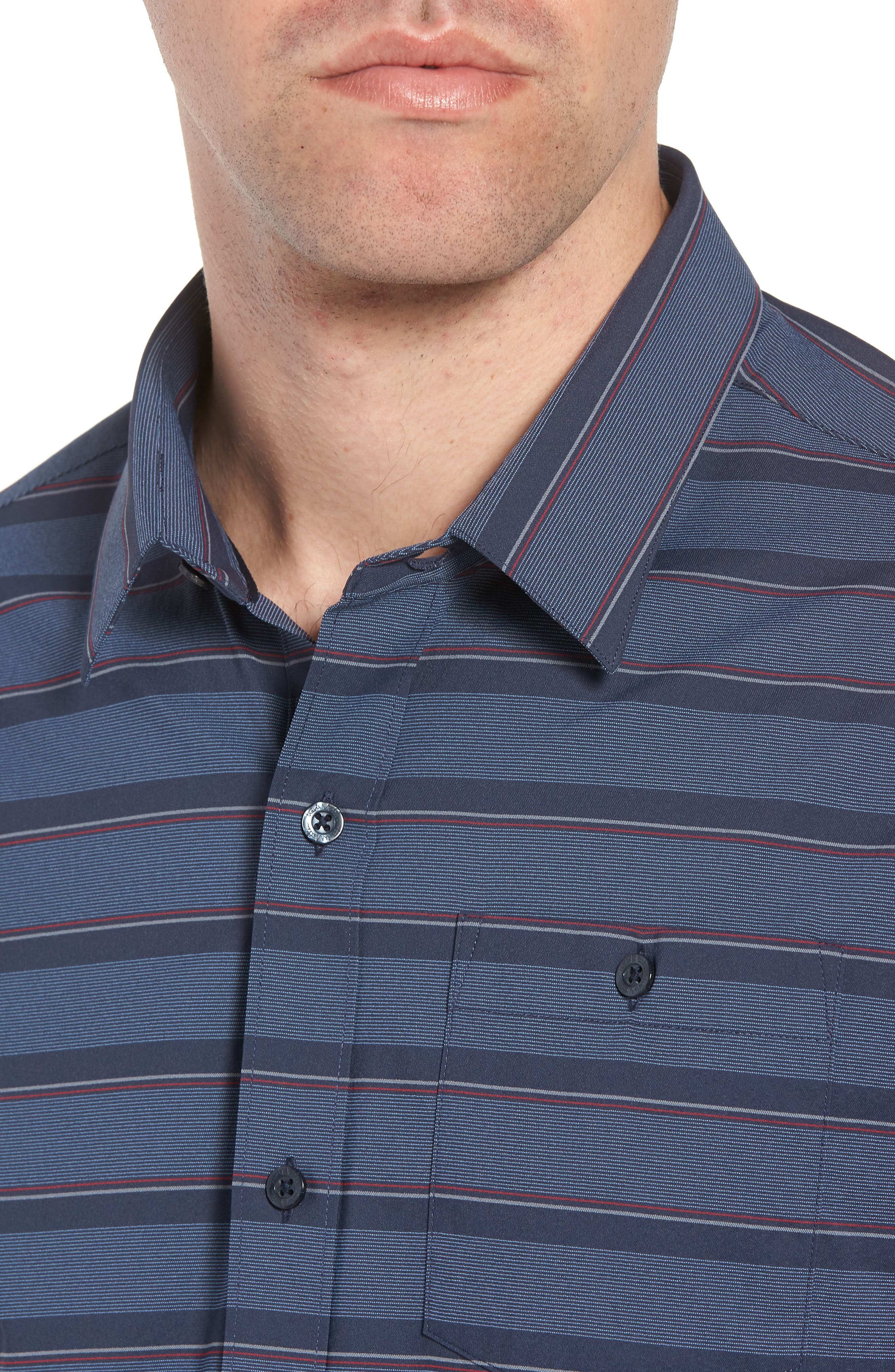 Quiver Regular Fit Sport Shirt,                             Alternate thumbnail 2, color,                             Blue Nights