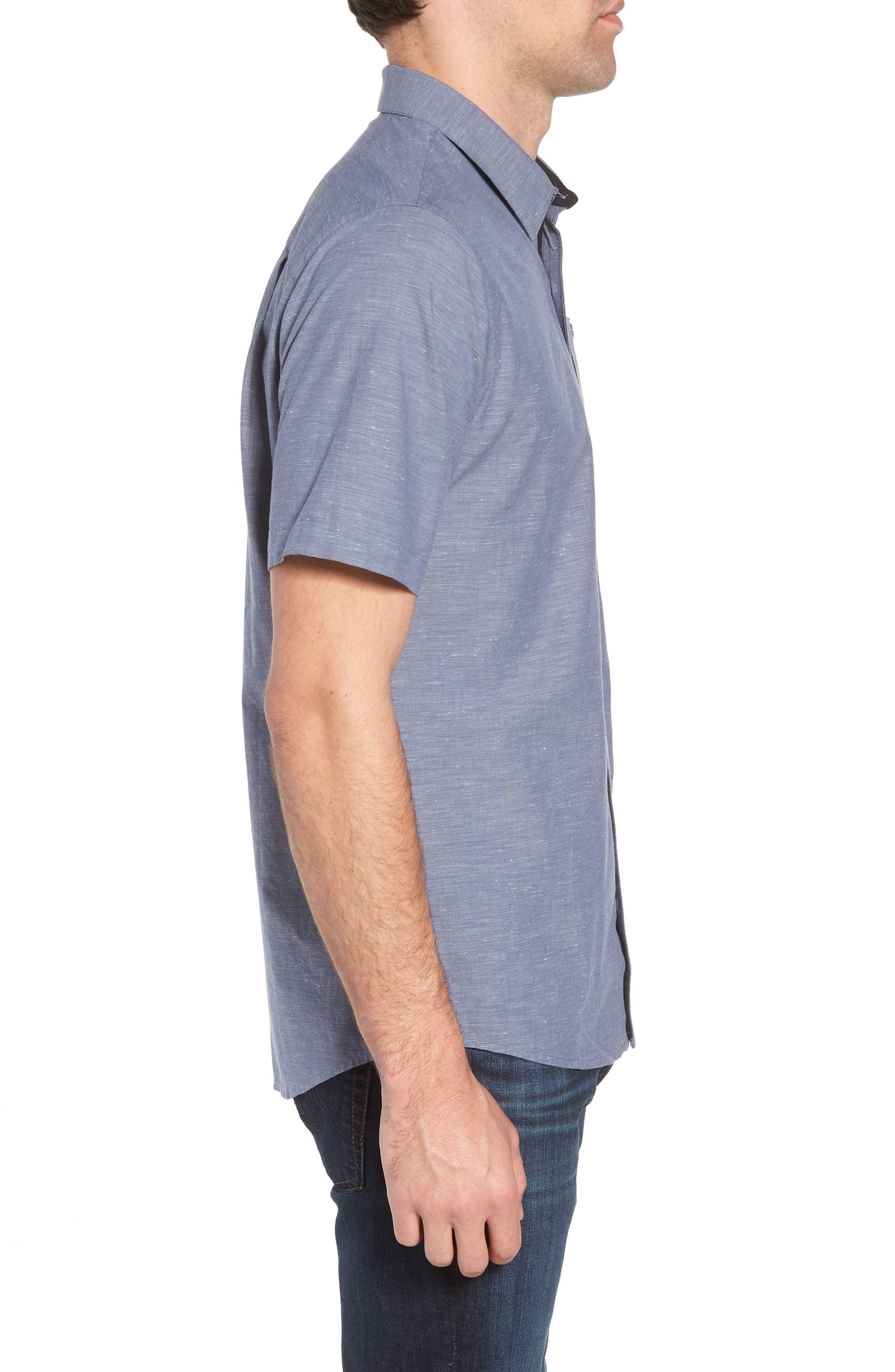 Studebaker Regular Fit Sport Shirt,                             Alternate thumbnail 4, color,                             Vintage Indigo