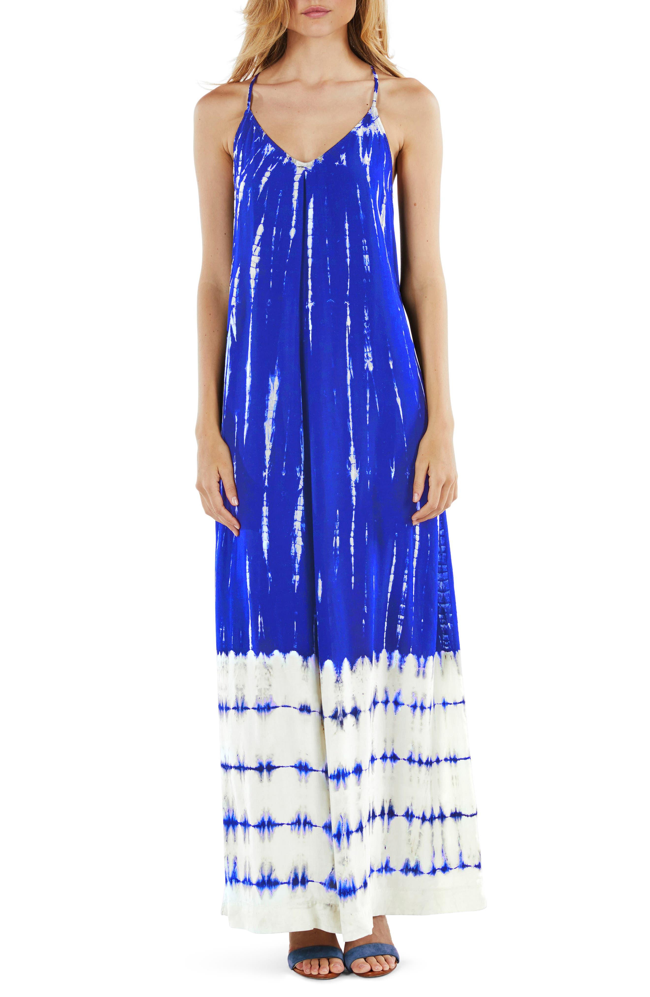 Babydoll Maxi Dress,                             Main thumbnail 1, color,                             Bayside
