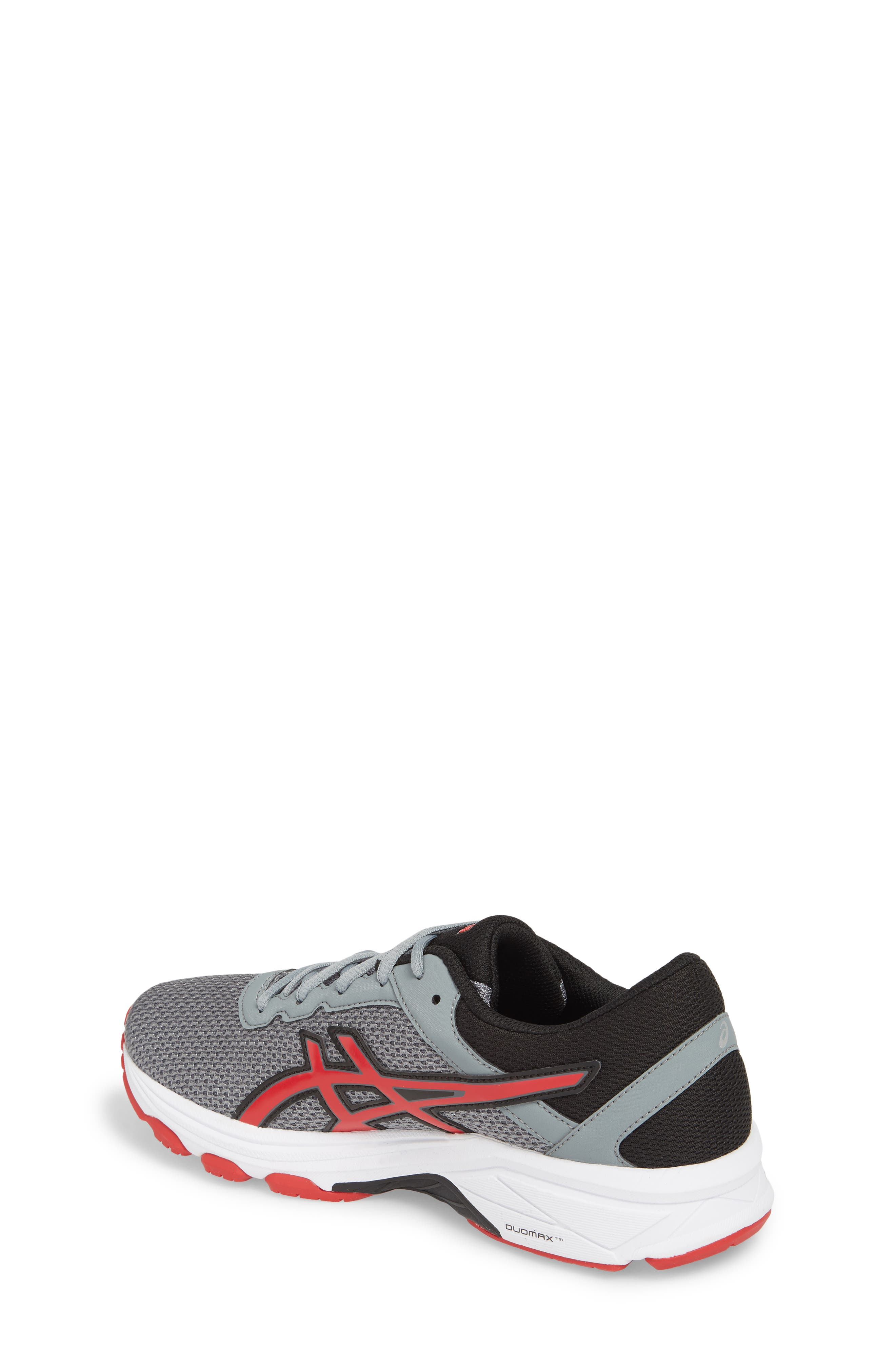 Asics GT-1000<sup>™</sup> 6 GS Sneaker,                             Alternate thumbnail 2, color,                             Stone Grey/ Classic Red/ Black