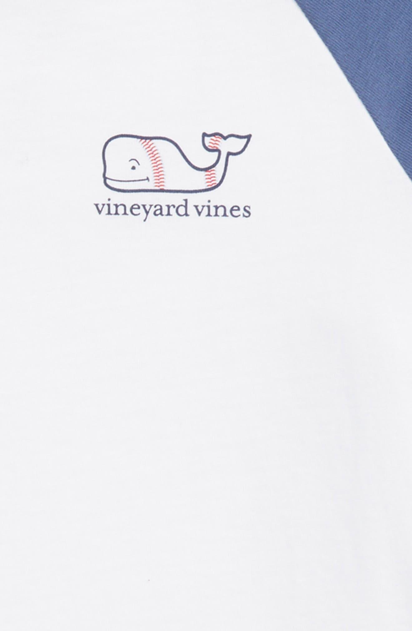 Whale Baseball T-Shirt,                             Alternate thumbnail 3, color,                             White Cap