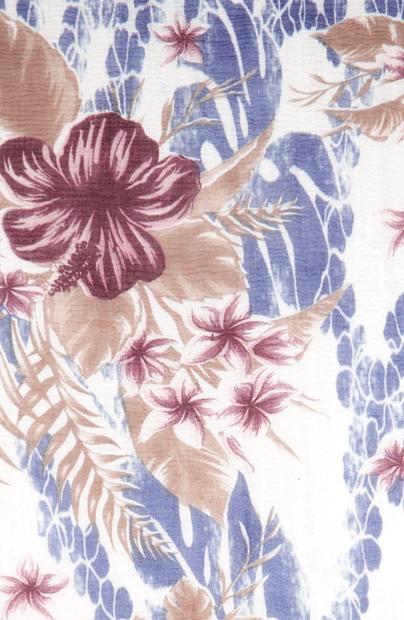 Bahama Floral Print Scarf,                             Alternate thumbnail 3, color,                             Multi