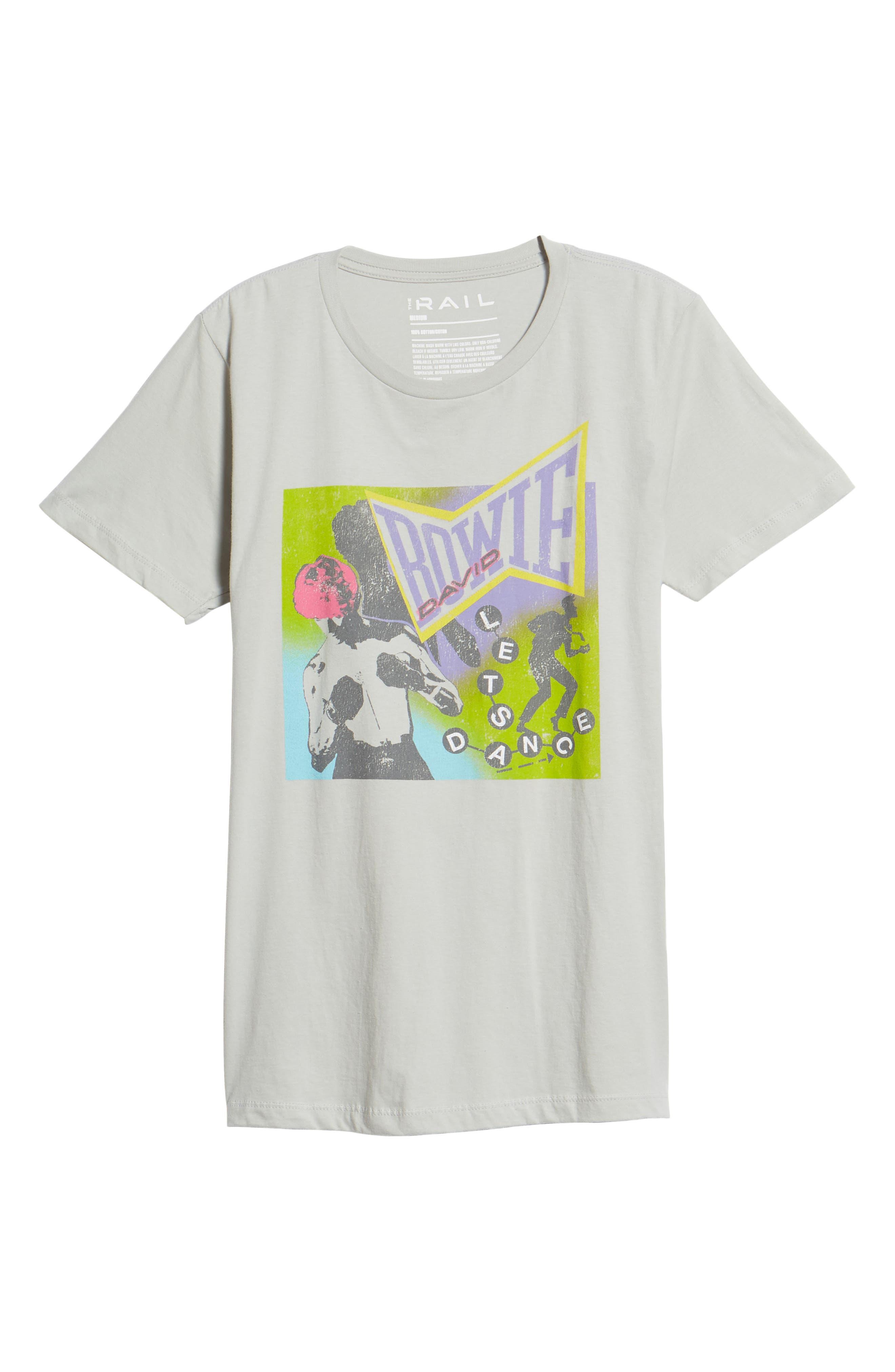Neon David Bowie T-Shirt,                             Alternate thumbnail 6, color,                             Grey Bowie Dance