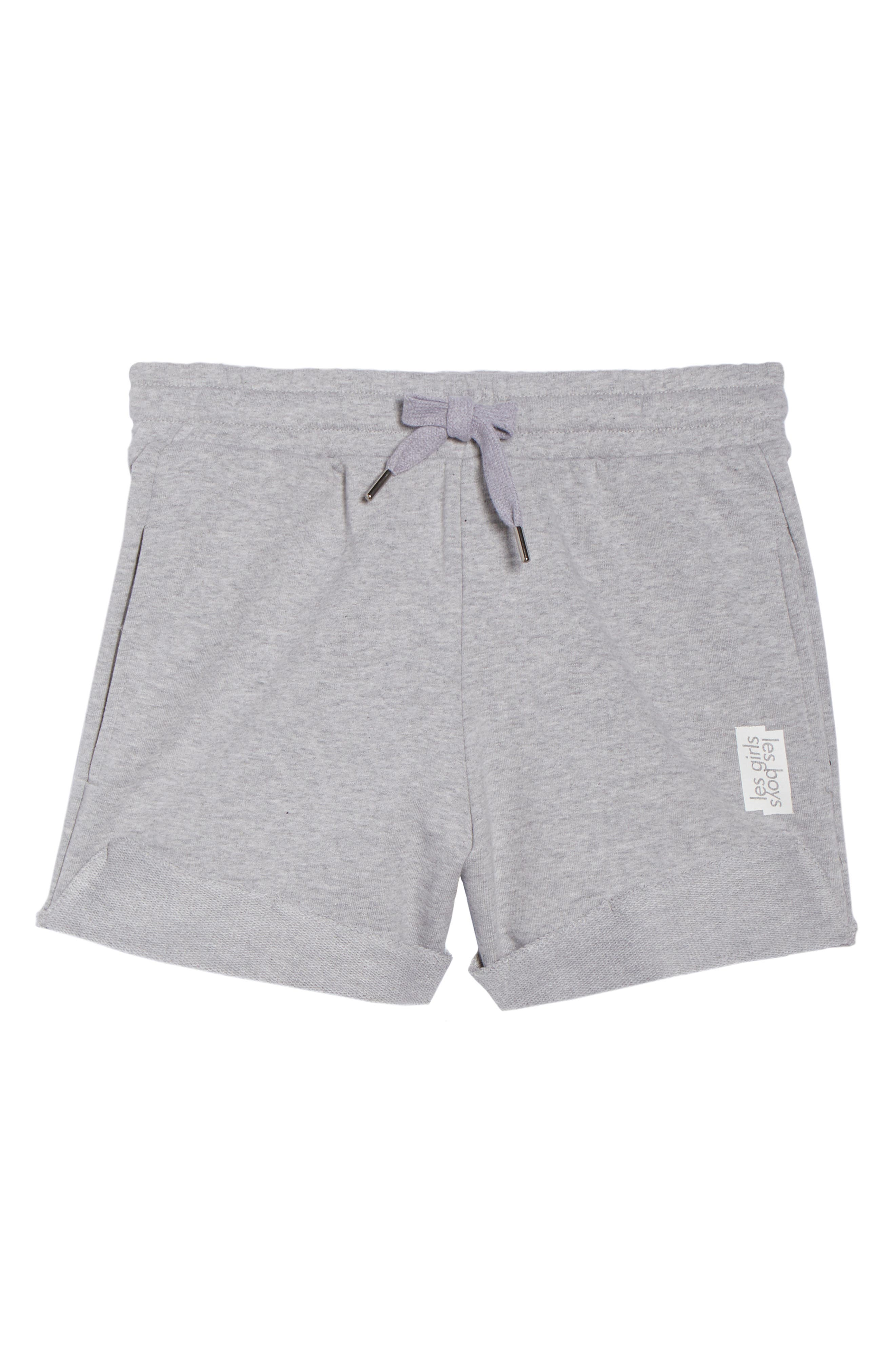 French Terry High Waist Shorts,                             Alternate thumbnail 4, color,                             Light Grey Marl