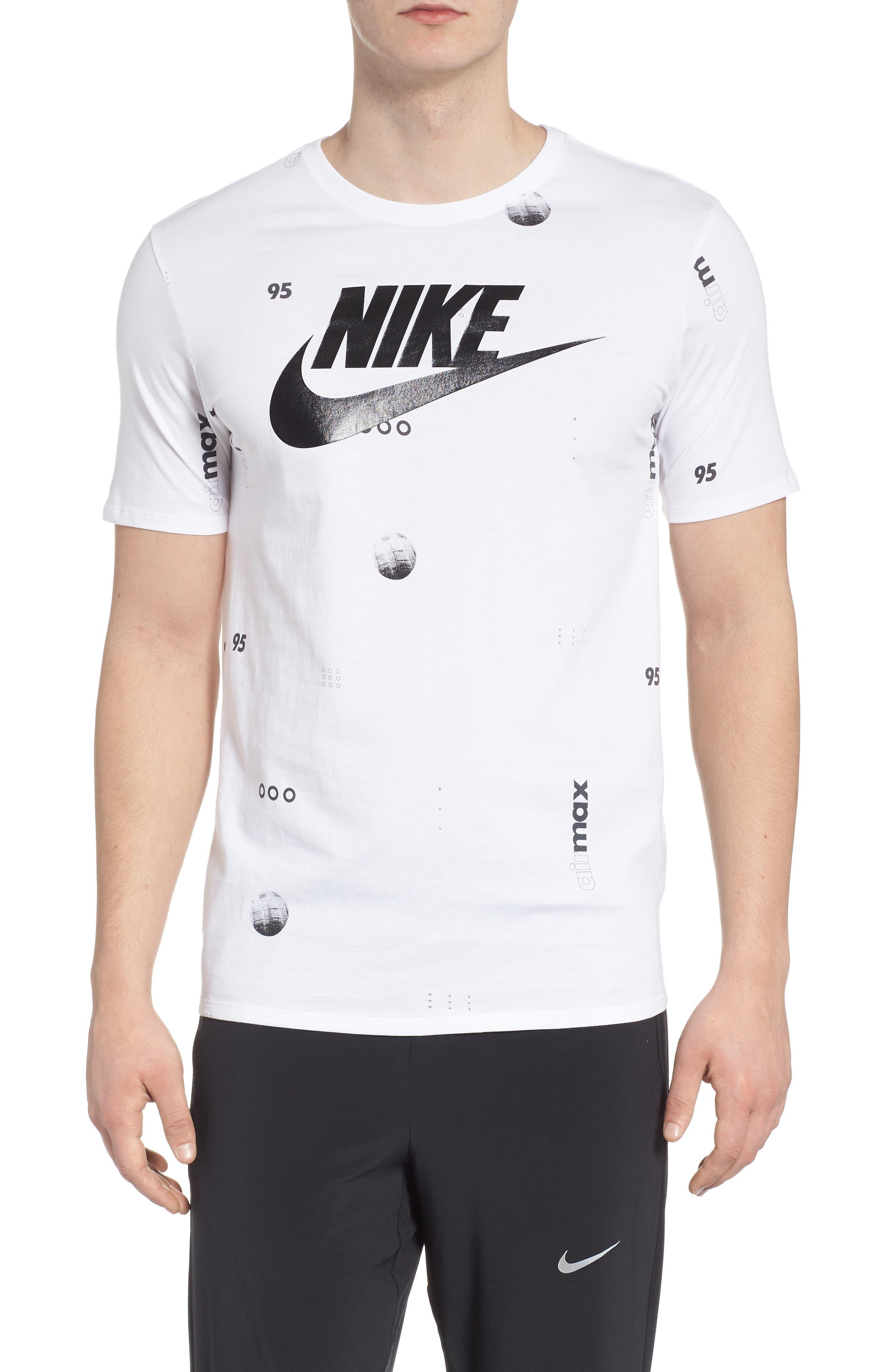 c9f116ad03 Nike Sportswear Air Max Print T-Shirt In White  Black