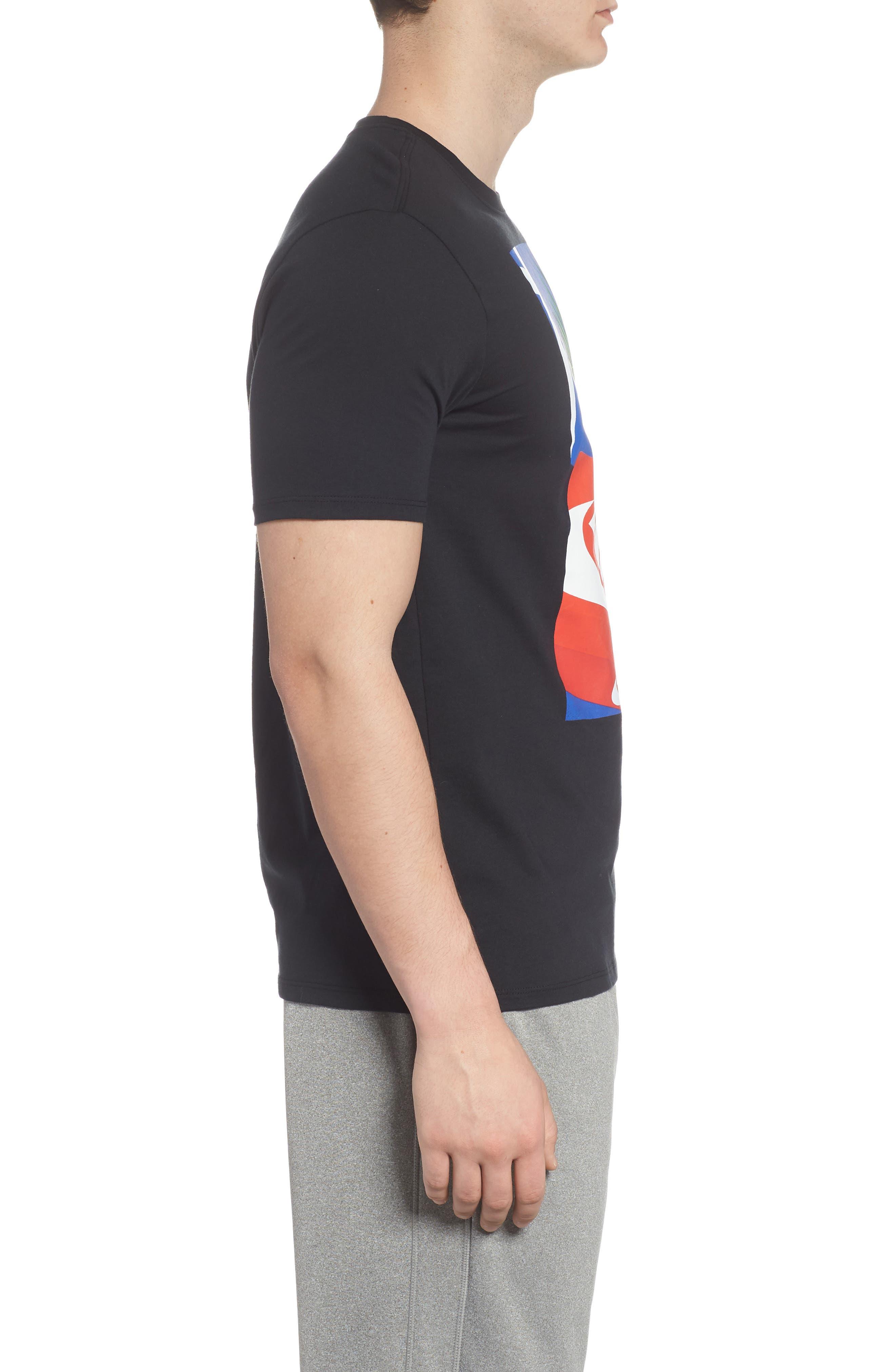 Sportswear Graphic T-Shirt,                             Alternate thumbnail 3, color,                             Black