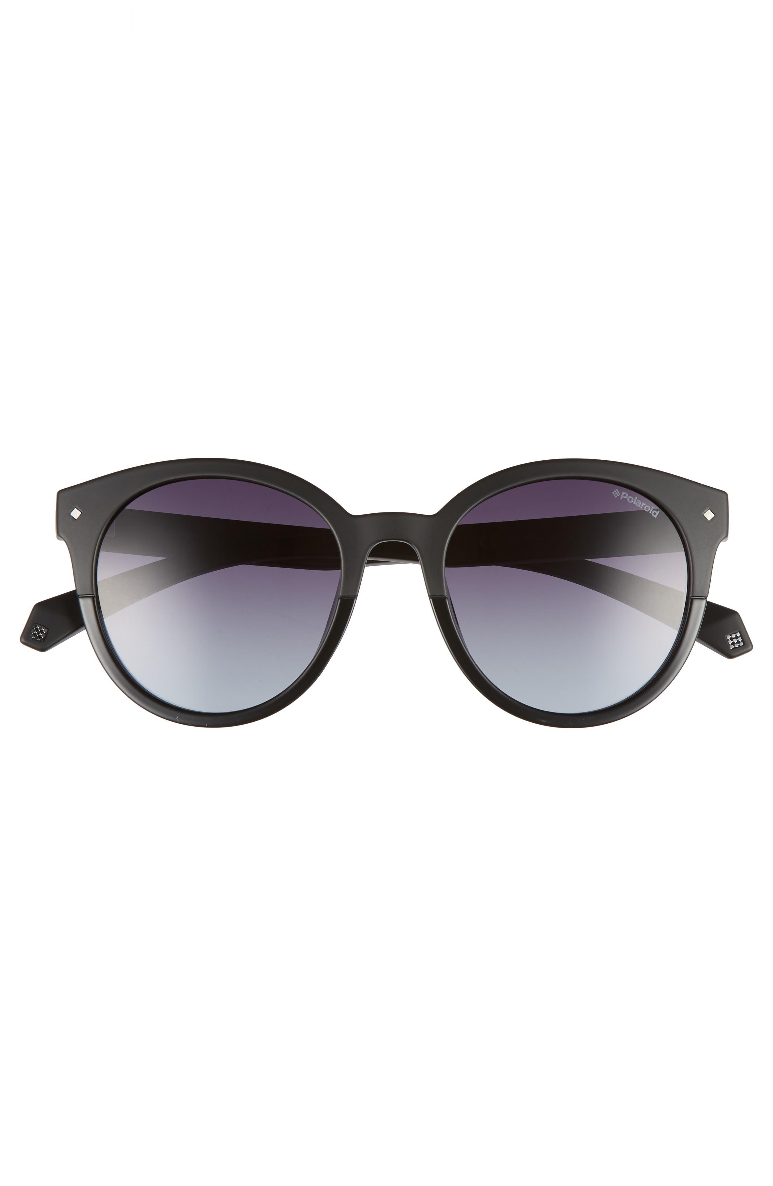 Basic 51mm Polarized Sunglasses,                             Alternate thumbnail 3, color,                             Black