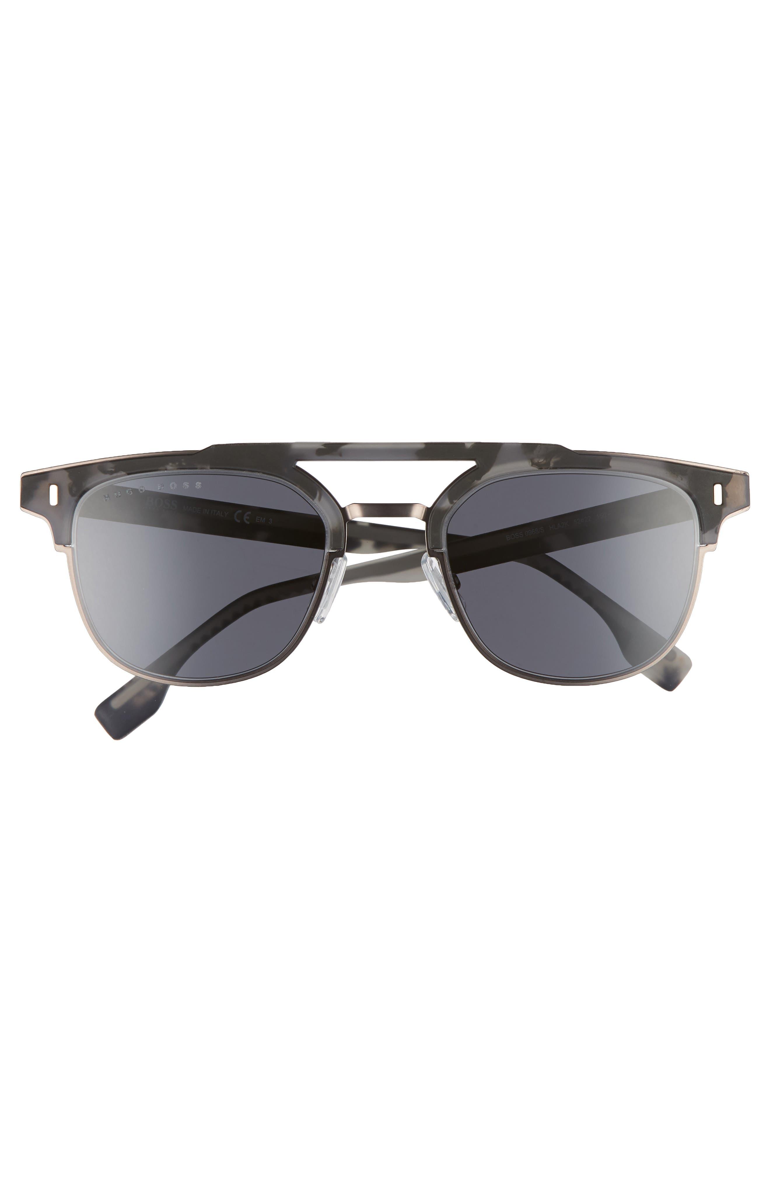 52mm Sunglasses,                             Alternate thumbnail 2, color,                             Mud Havana Rose
