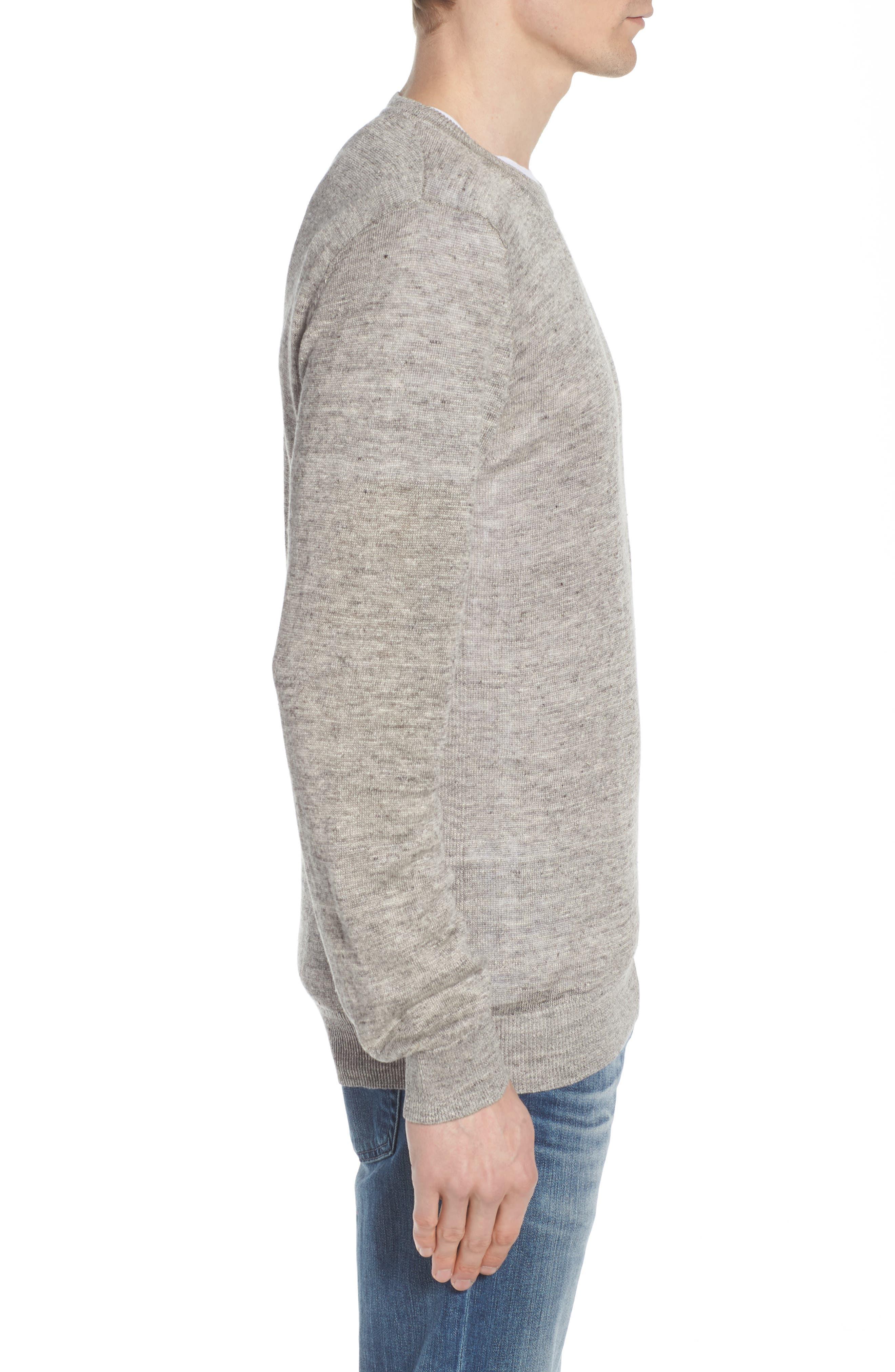 Heyward Long Sleeve T-Shirt,                             Alternate thumbnail 3, color,                             Heather Grey