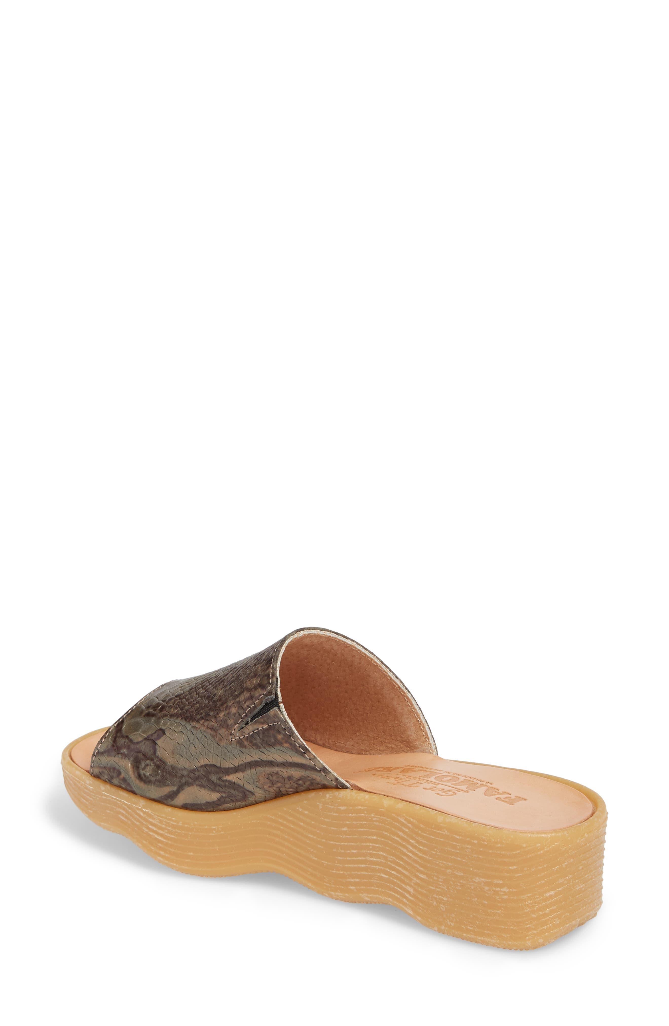 Slide N Sleek Wedge Slide Sandal,                             Alternate thumbnail 2, color,                             Snake Leather