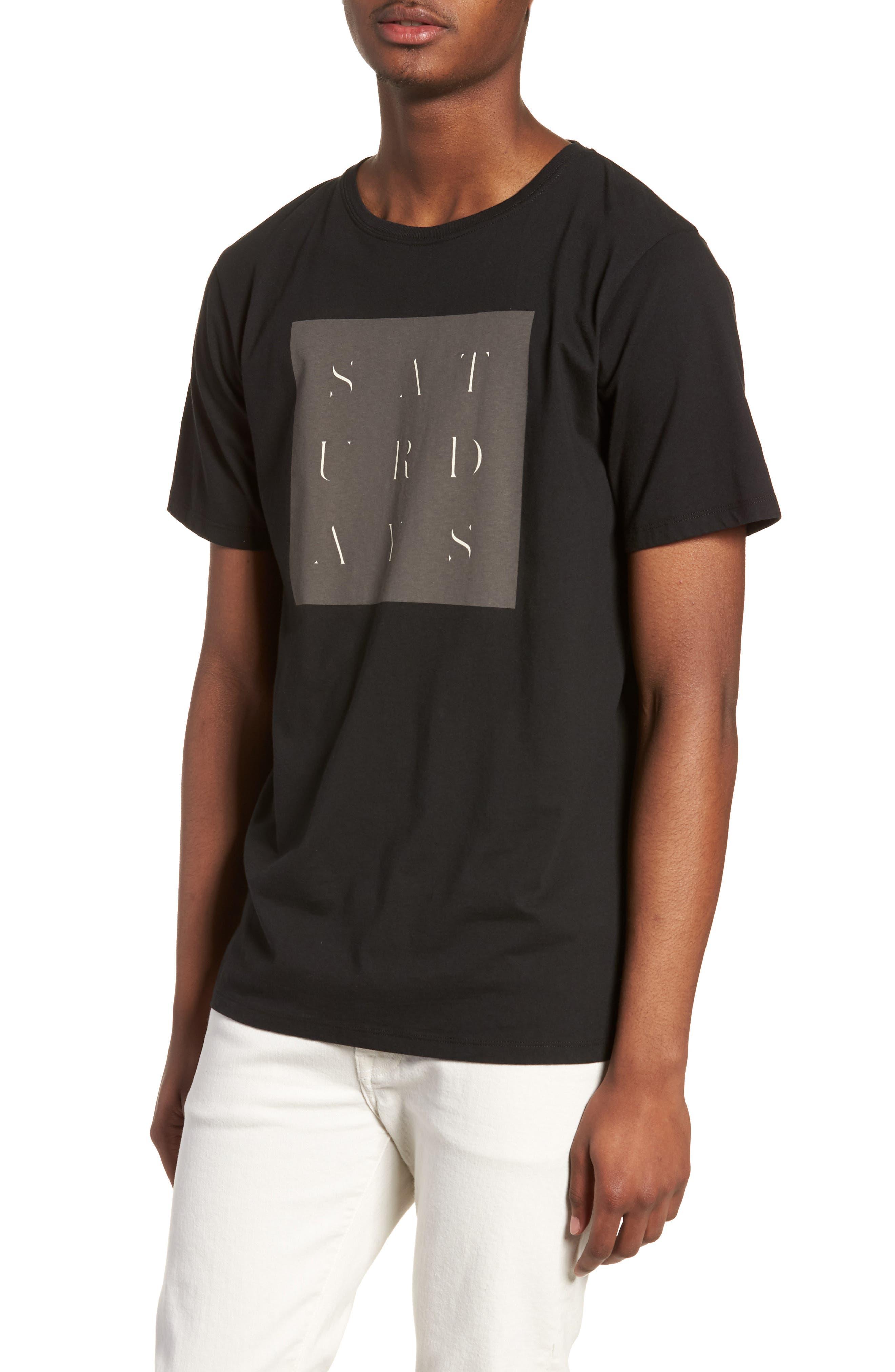 Stencil Grid T-Shirt,                             Main thumbnail 1, color,                             Black