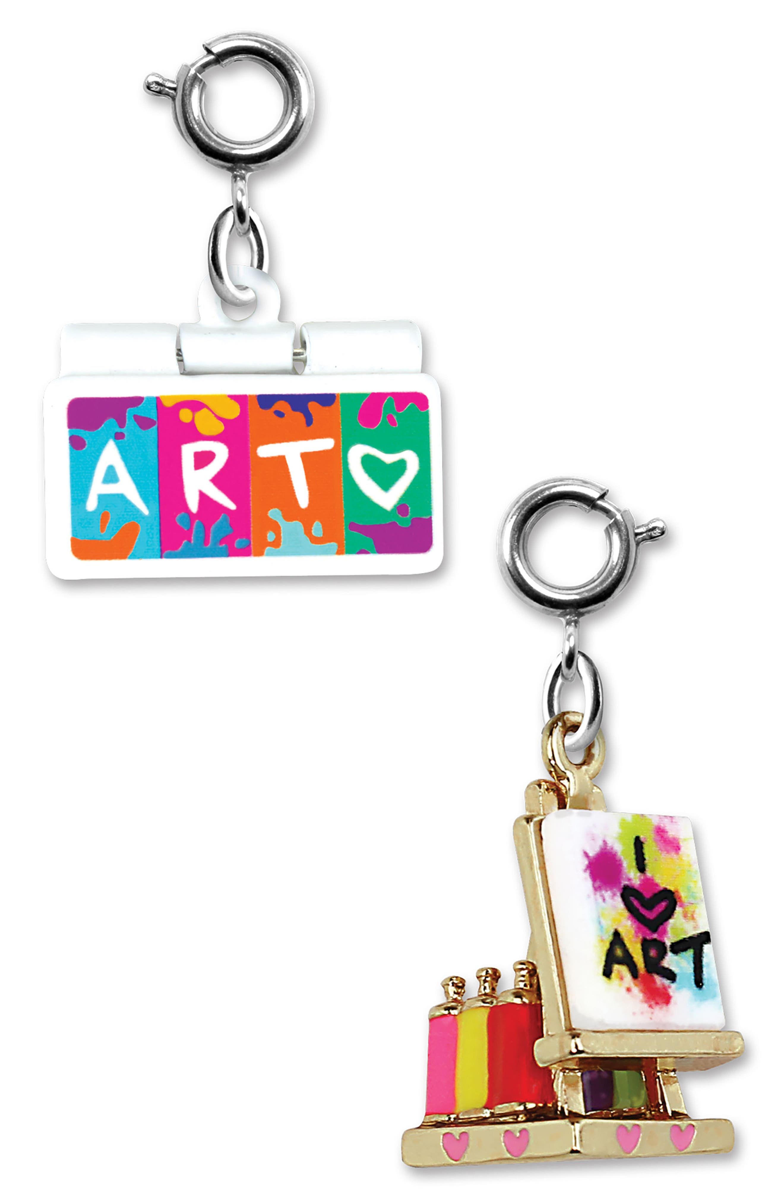 CHARM IT!<sup>®</sup> 2-Pack Art & Easel Charms,                             Main thumbnail 1, color,                             Multi