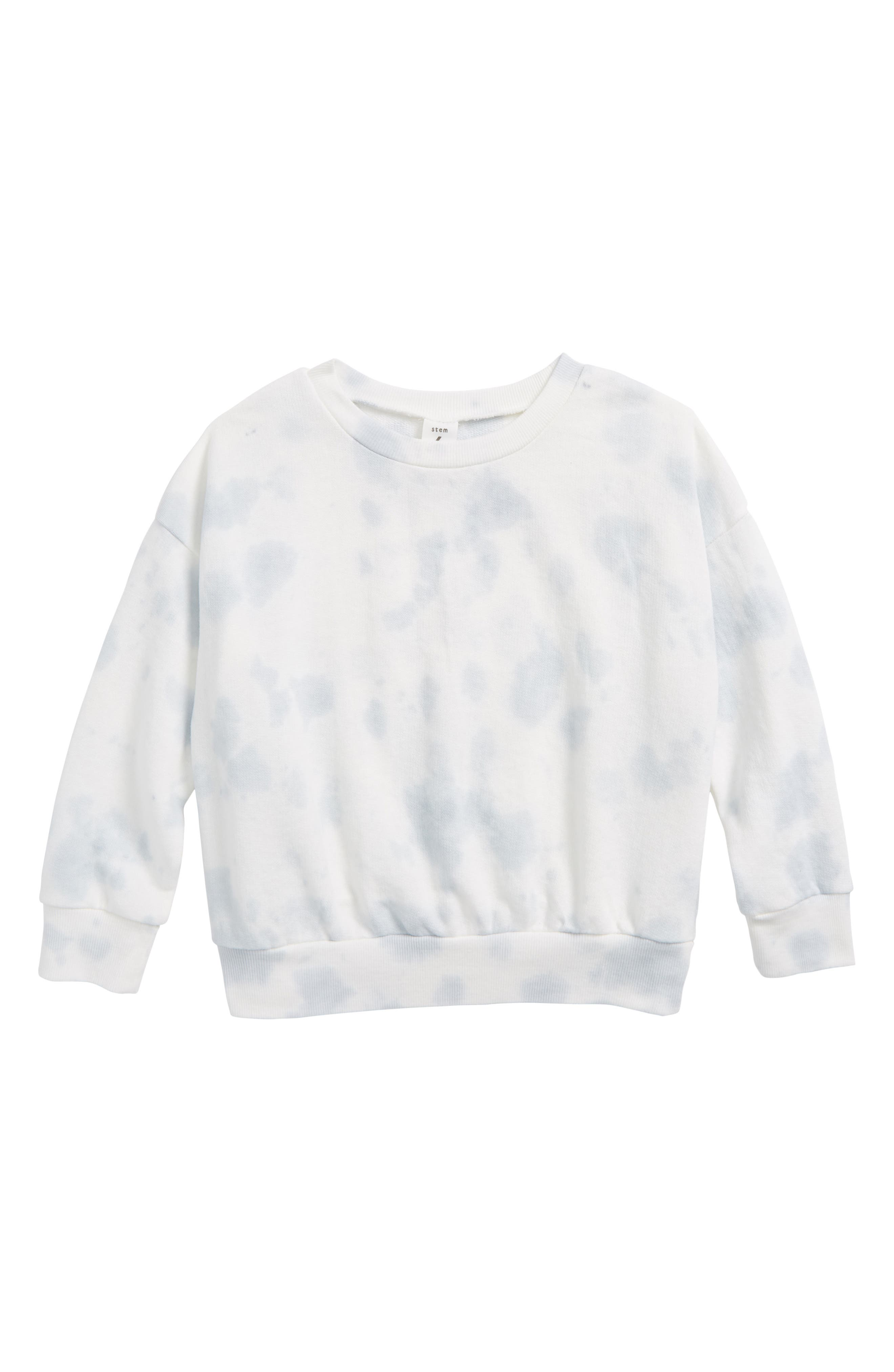 Tie Dye Sweatshirt,                             Main thumbnail 1, color,                             Blue Fog Tie Dye