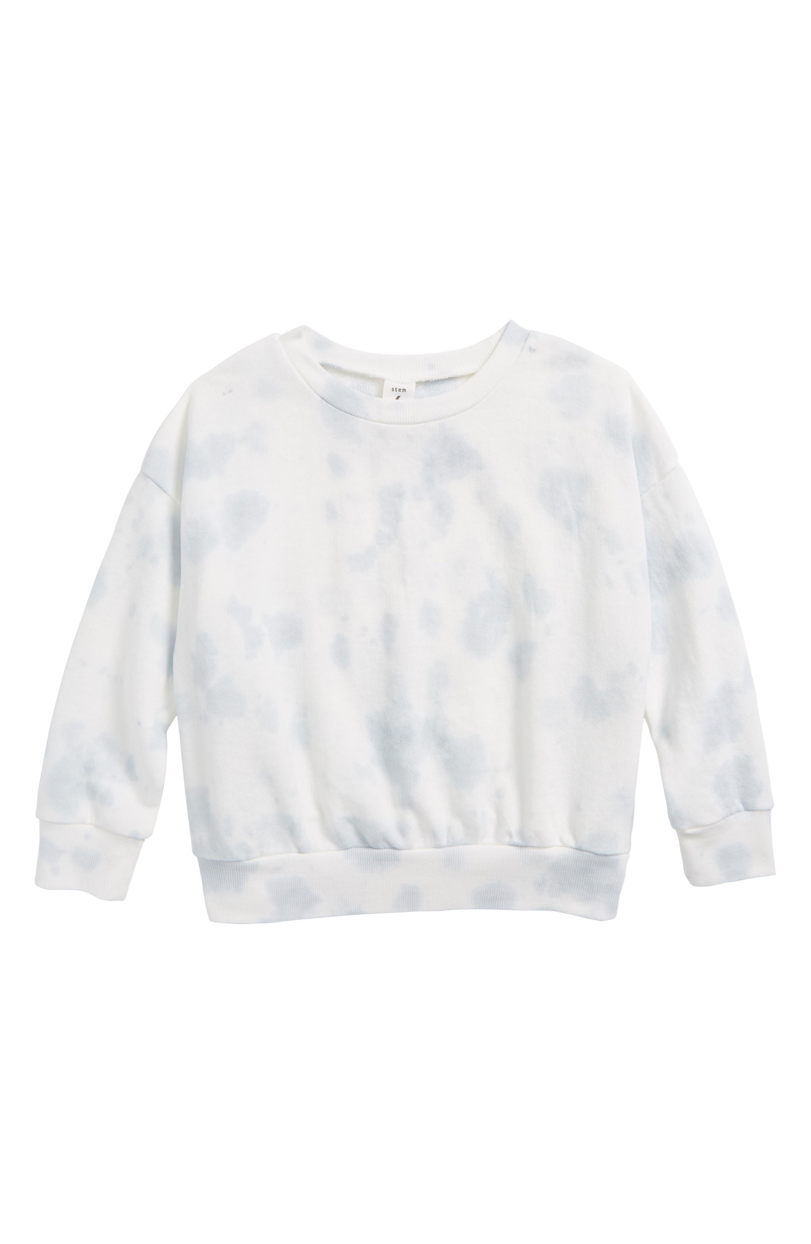 Stem Tie Dye Sweatshirt (Toddler Girls, Little Girls & Big Girls)