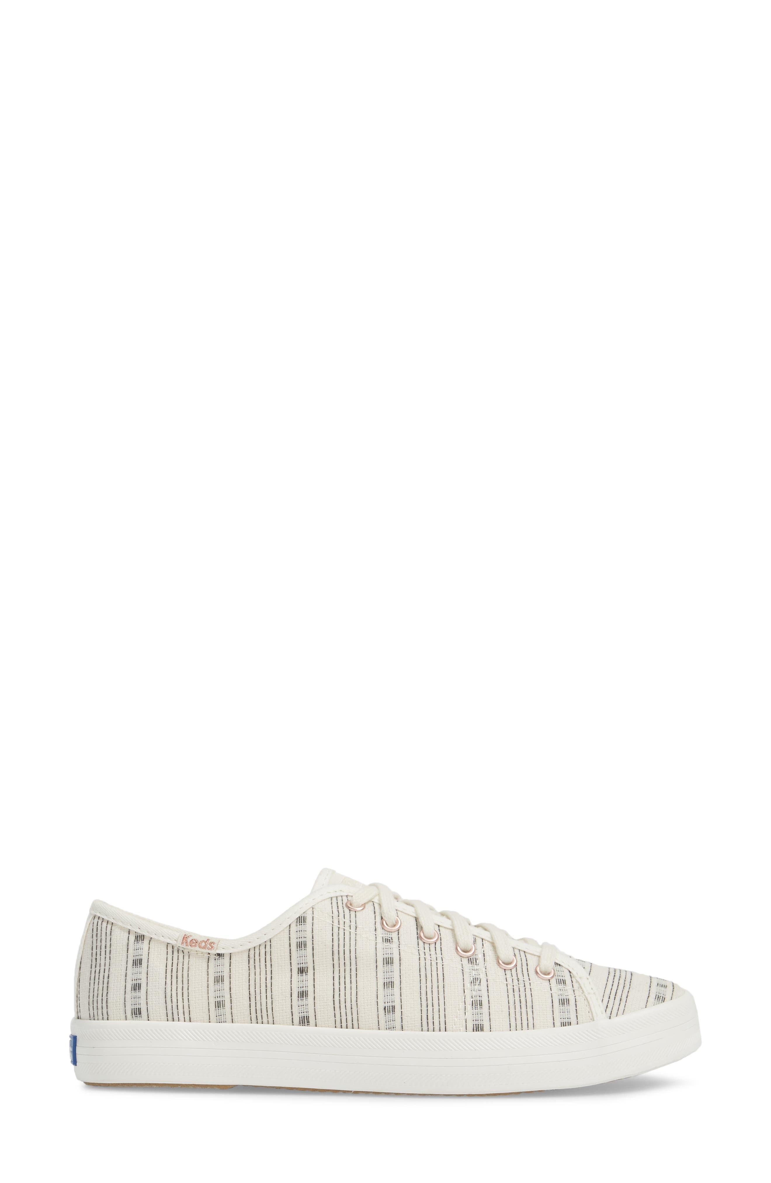 Kickstart Summer Stripe Sneaker,                             Alternate thumbnail 3, color,                             Cream