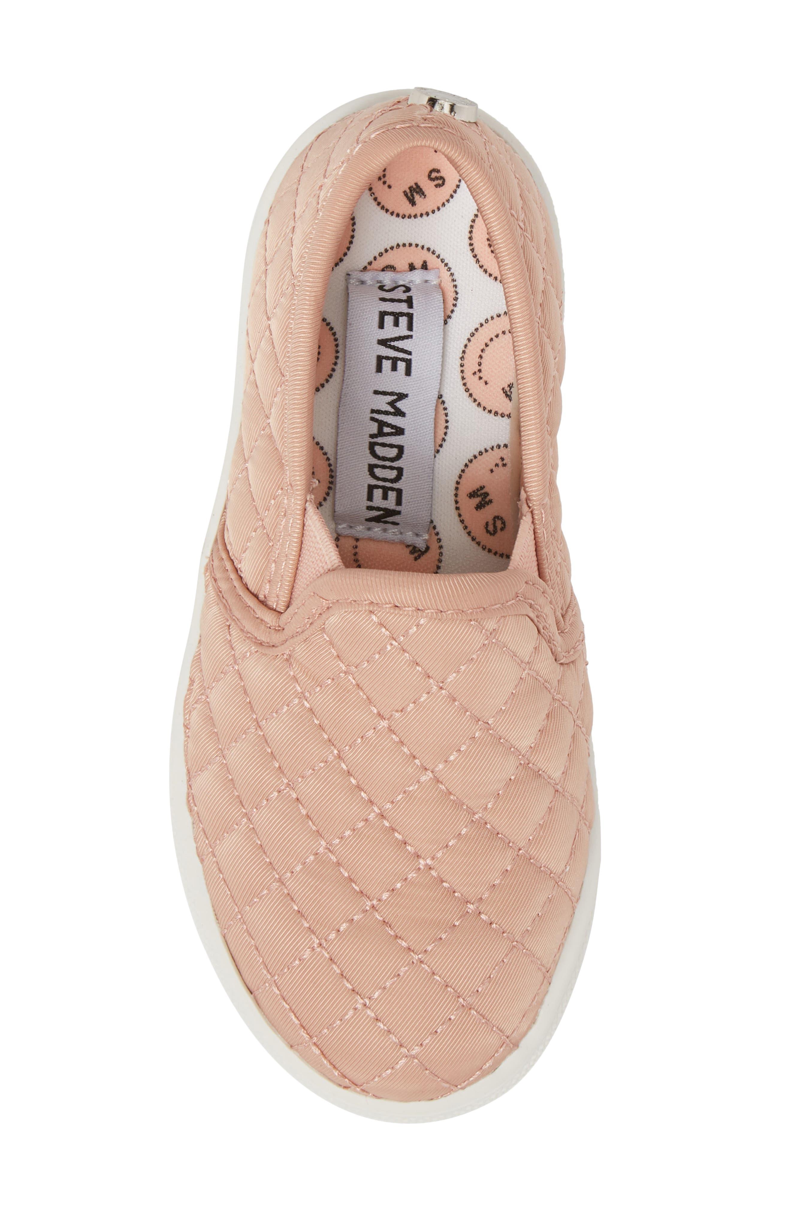 Alternate Image 5  - Steve Madden Tecntrc Quilted Slip-On Sneaker (Toddler)