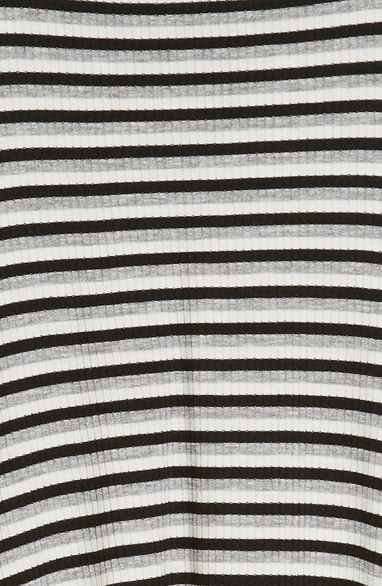 Racerback Stripe Handkerchief Dress,                             Alternate thumbnail 3, color,                             Grey/ Black