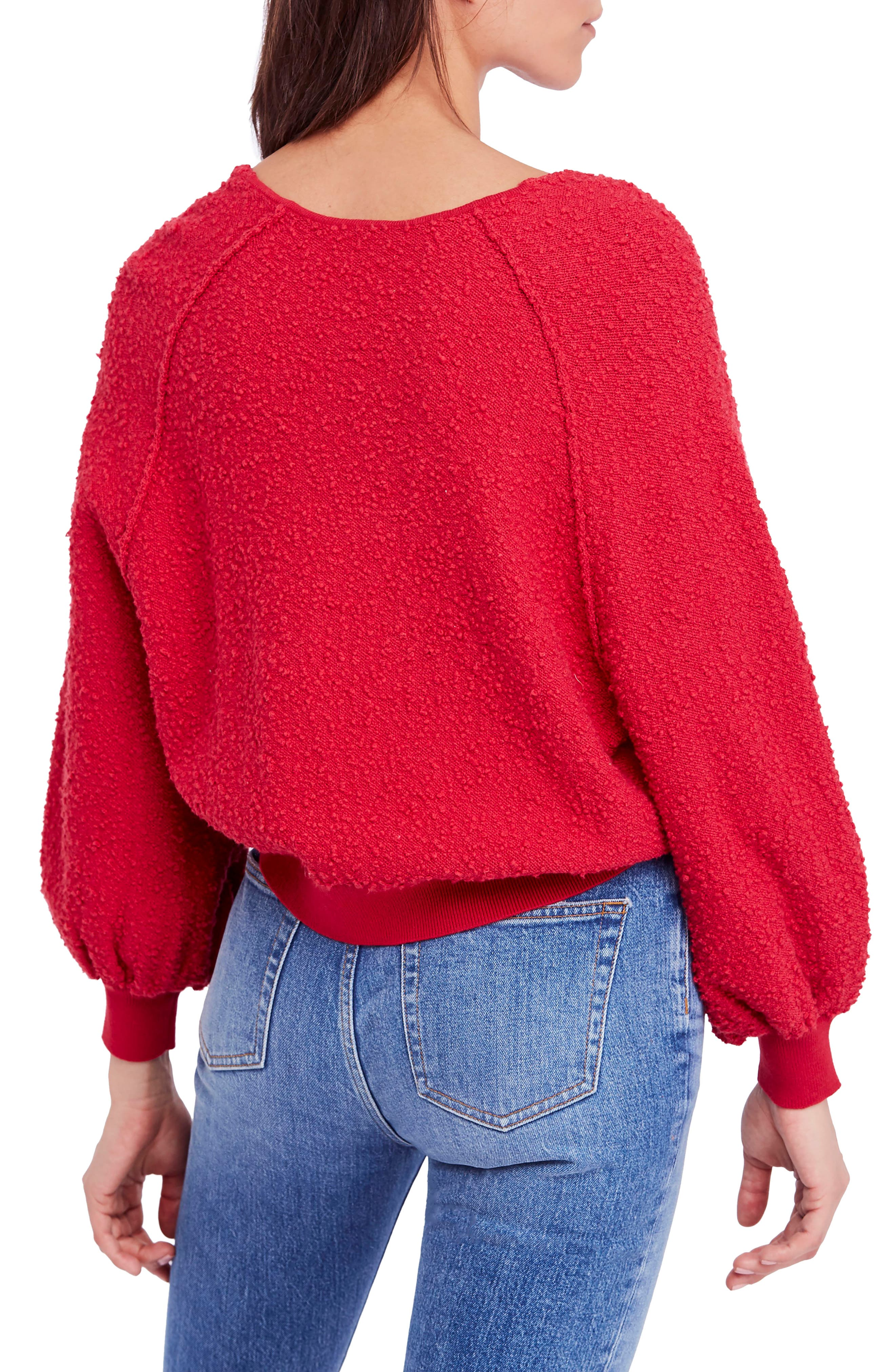 Found My Friend Sweater,                             Alternate thumbnail 2, color,                             Red