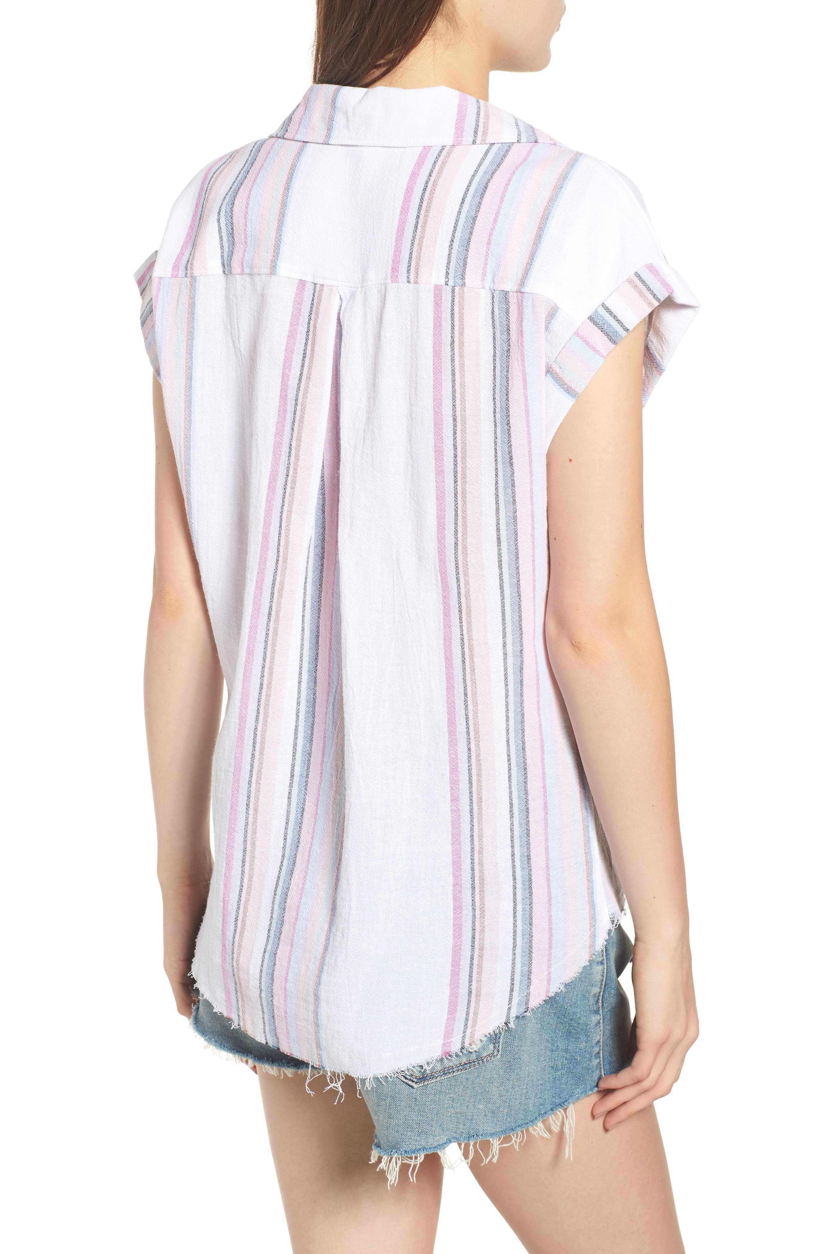 Stripe Camp Shirt,                             Alternate thumbnail 2, color,                             Josephina Rainbow Stripe