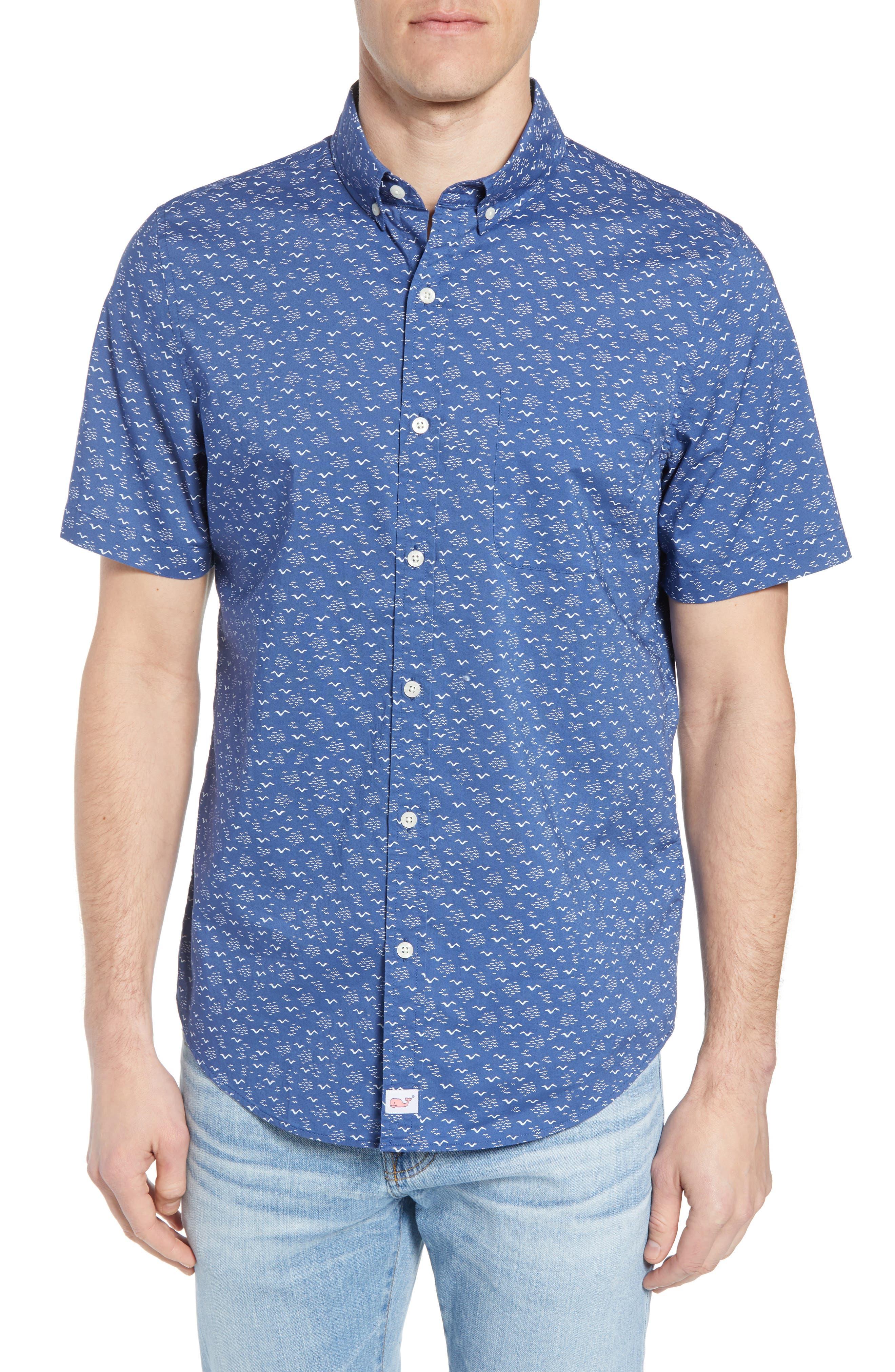 Mini Seagulls Murray Slim Fit Sport Shirt,                             Main thumbnail 1, color,                             Moonshine