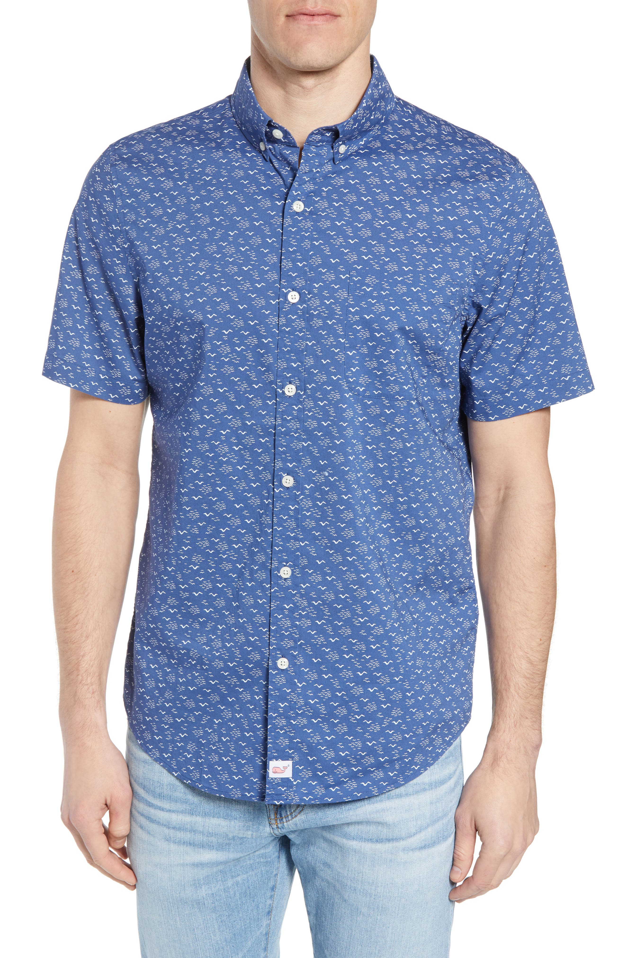 Mini Seagulls Murray Slim Fit Sport Shirt,                         Main,                         color, Moonshine