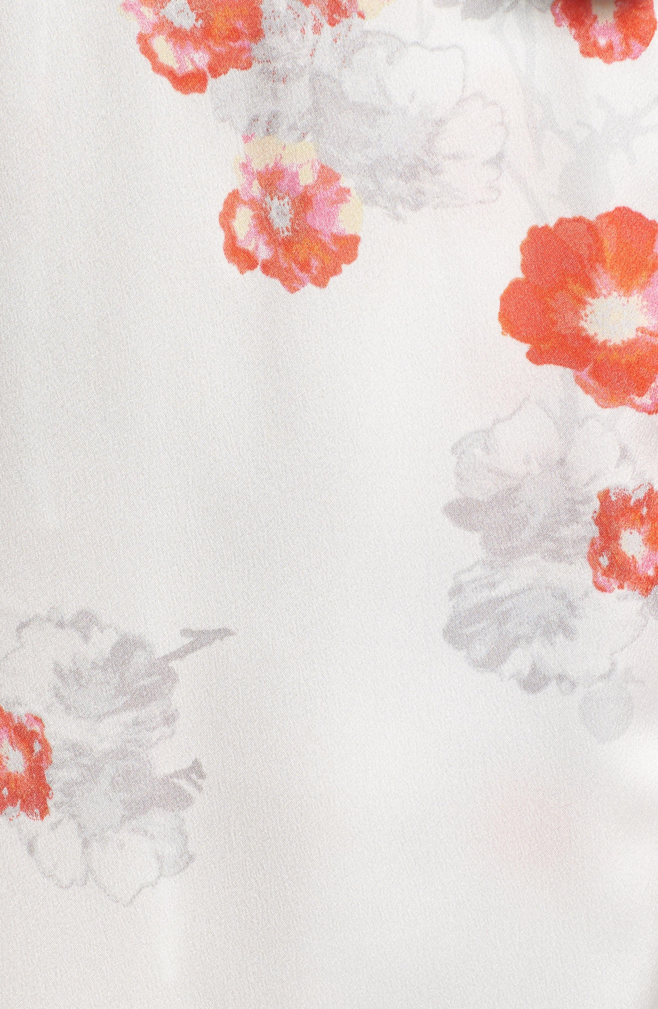 Blossom Print Wrap,                             Alternate thumbnail 5, color,                             White/ Multi