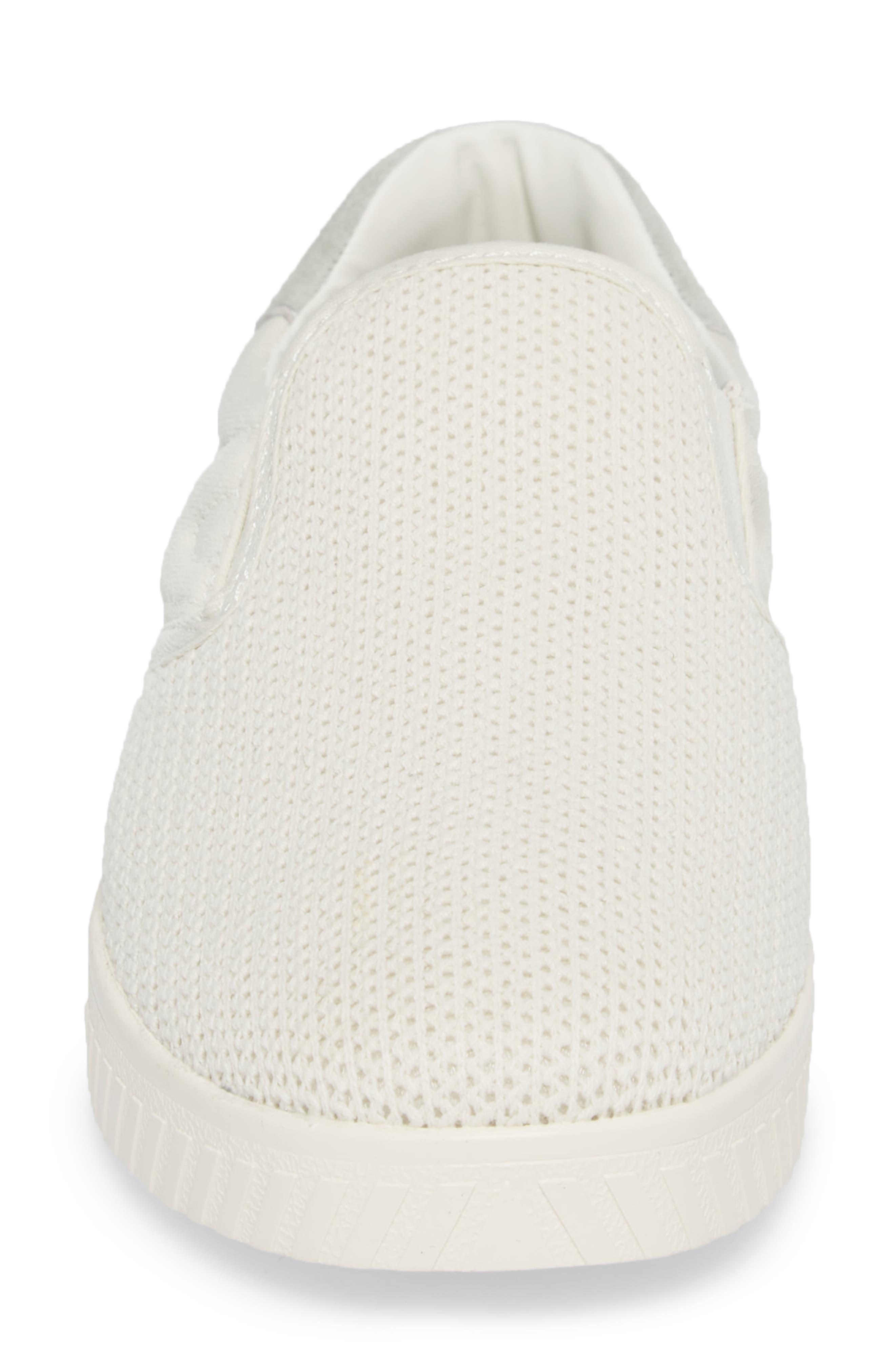 Cruz Mesh Slip-On Sneaker,                             Alternate thumbnail 4, color,                             Vintage White
