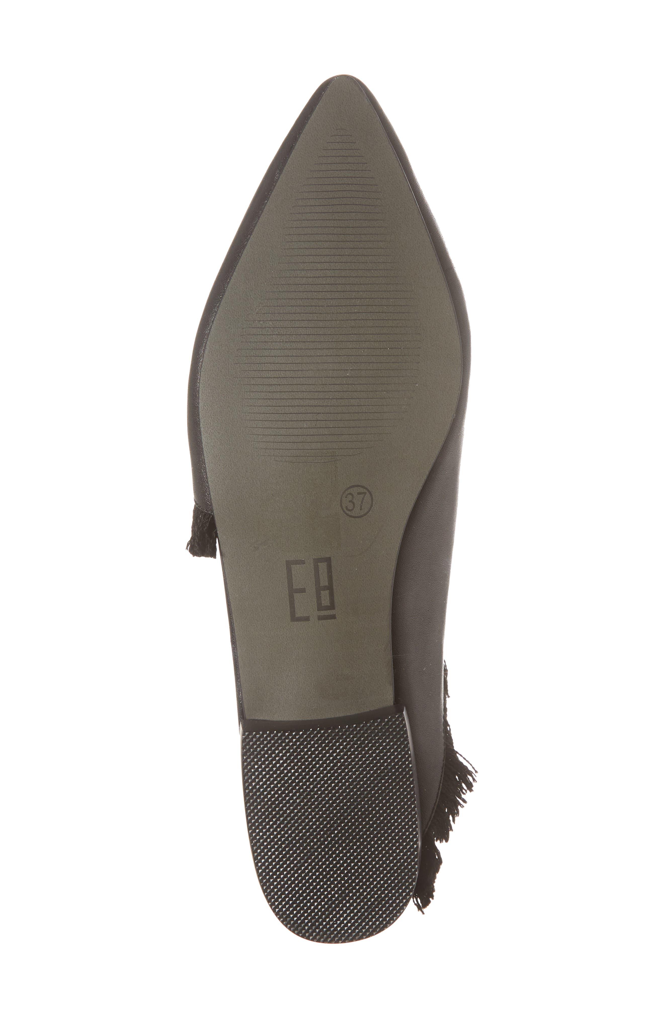 Leroy Asymmetrical Flat Mule,                             Alternate thumbnail 6, color,                             Black Leather