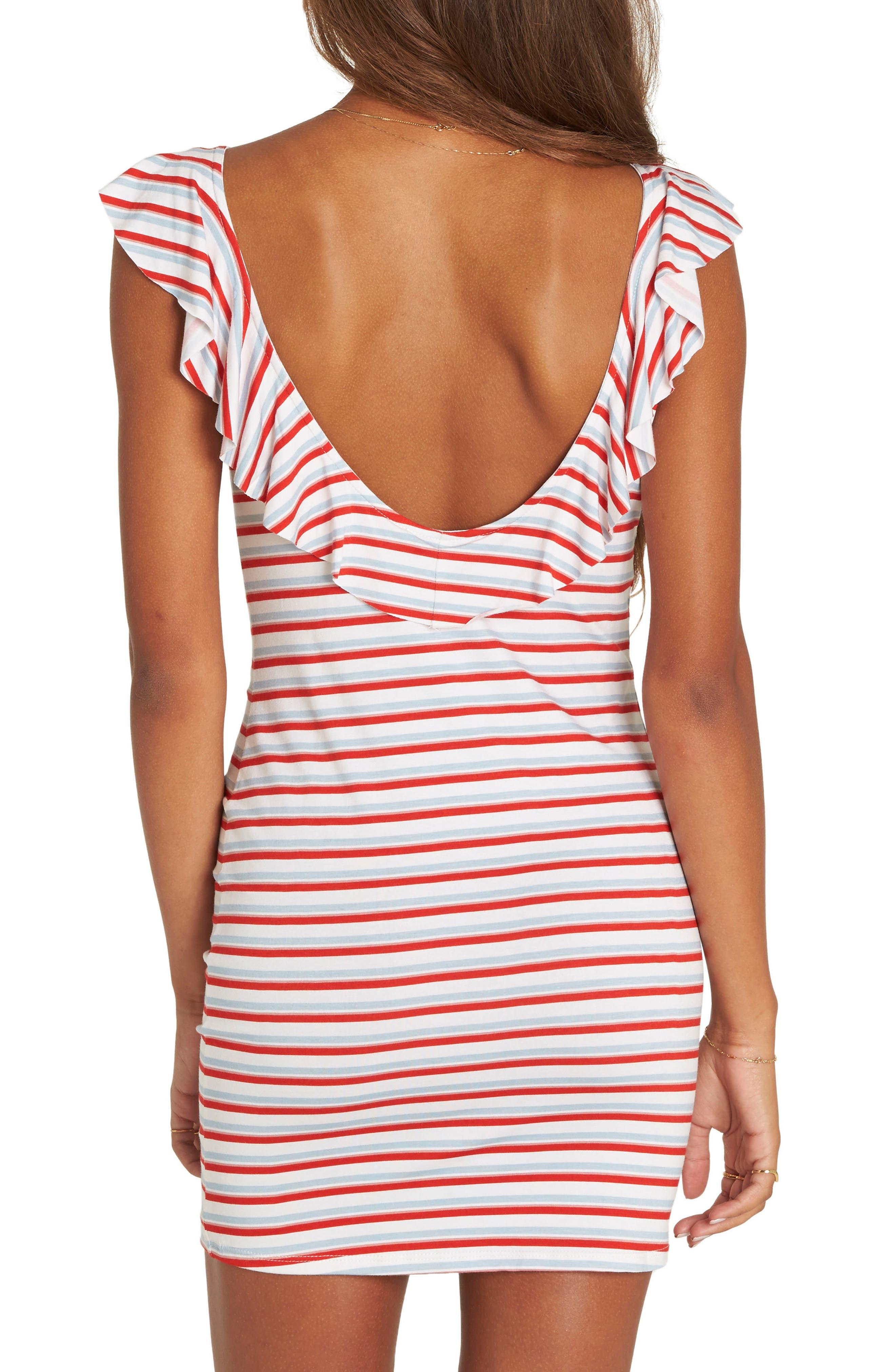 No Frills Stripe Minidress,                             Alternate thumbnail 2, color,                             Multi