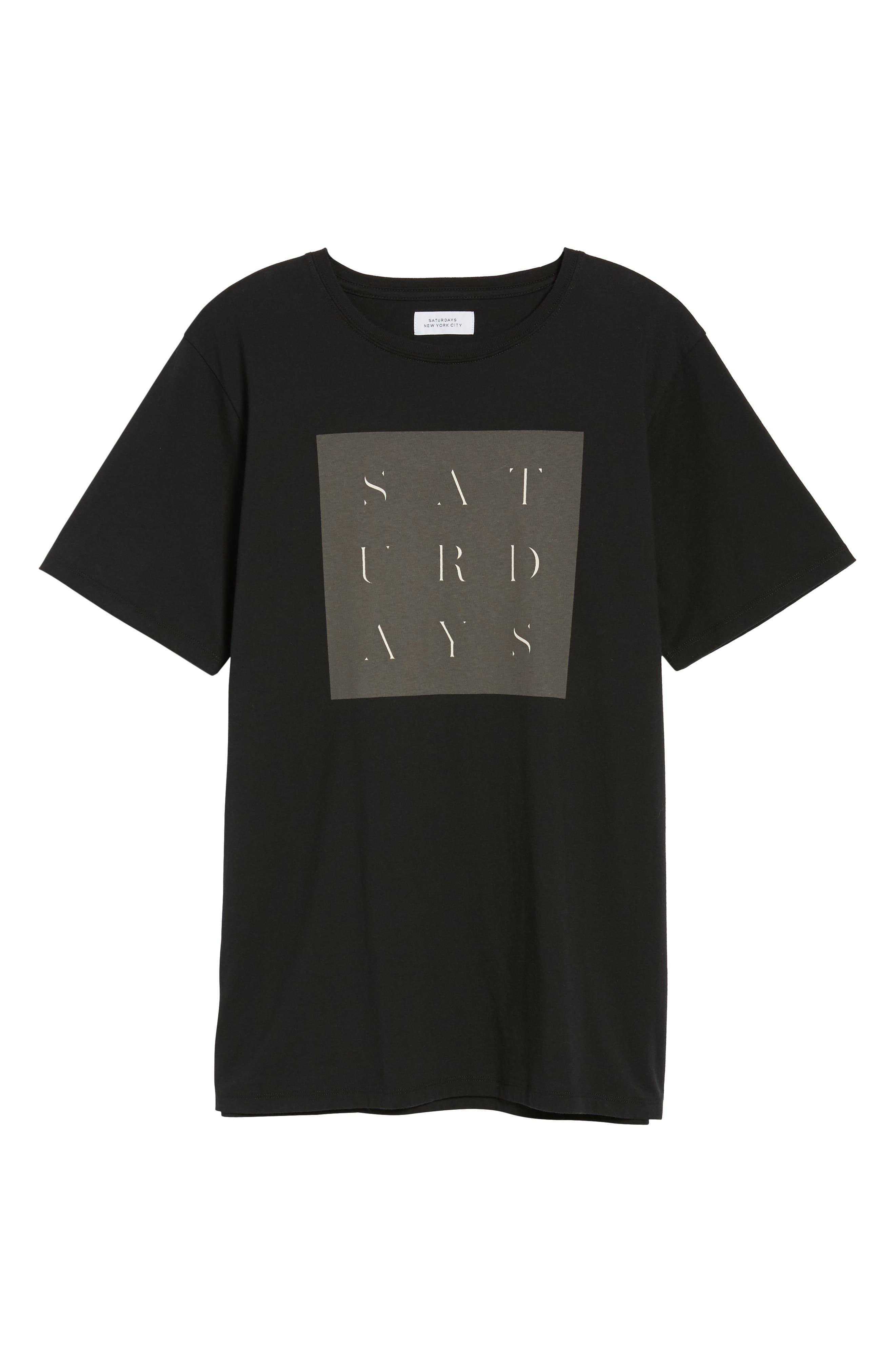 Stencil Grid T-Shirt,                             Alternate thumbnail 6, color,                             Black
