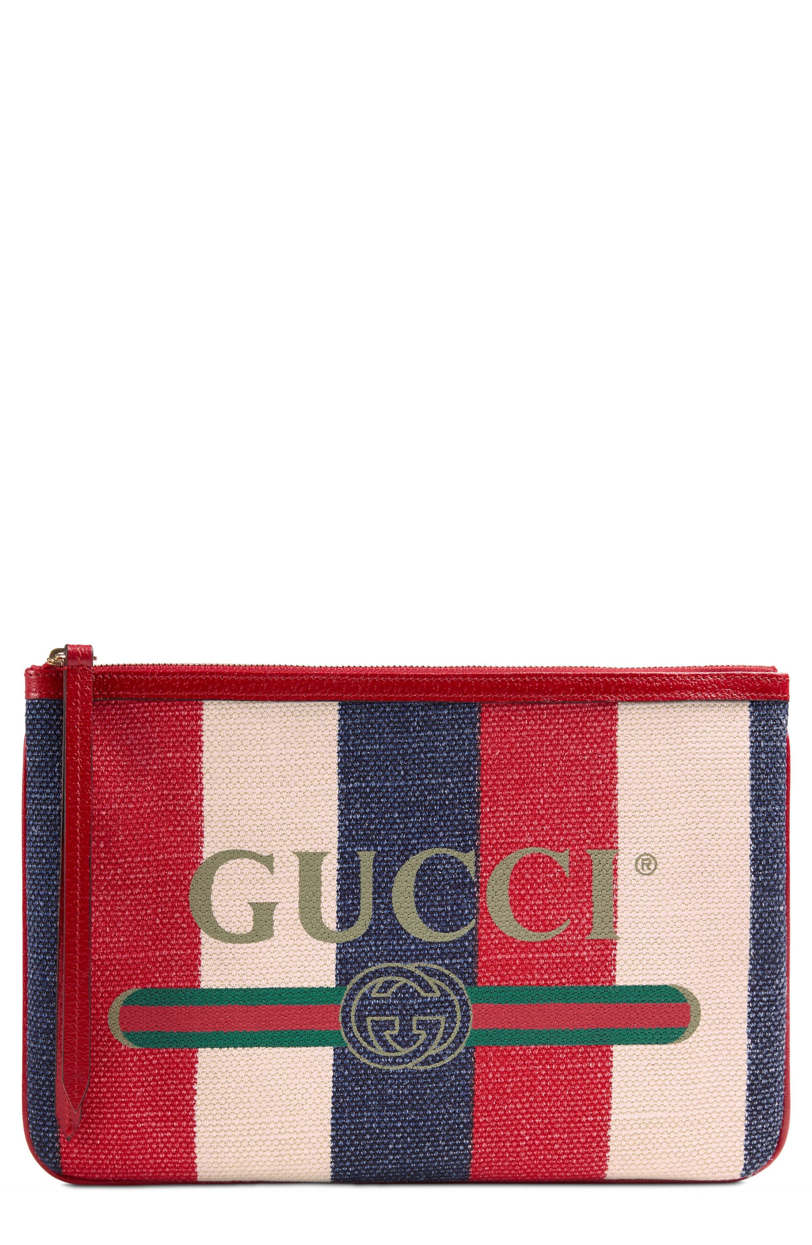 Linea Merida Zip Pouch,                         Main,                         color, White/ Red/ Blue/ Vert