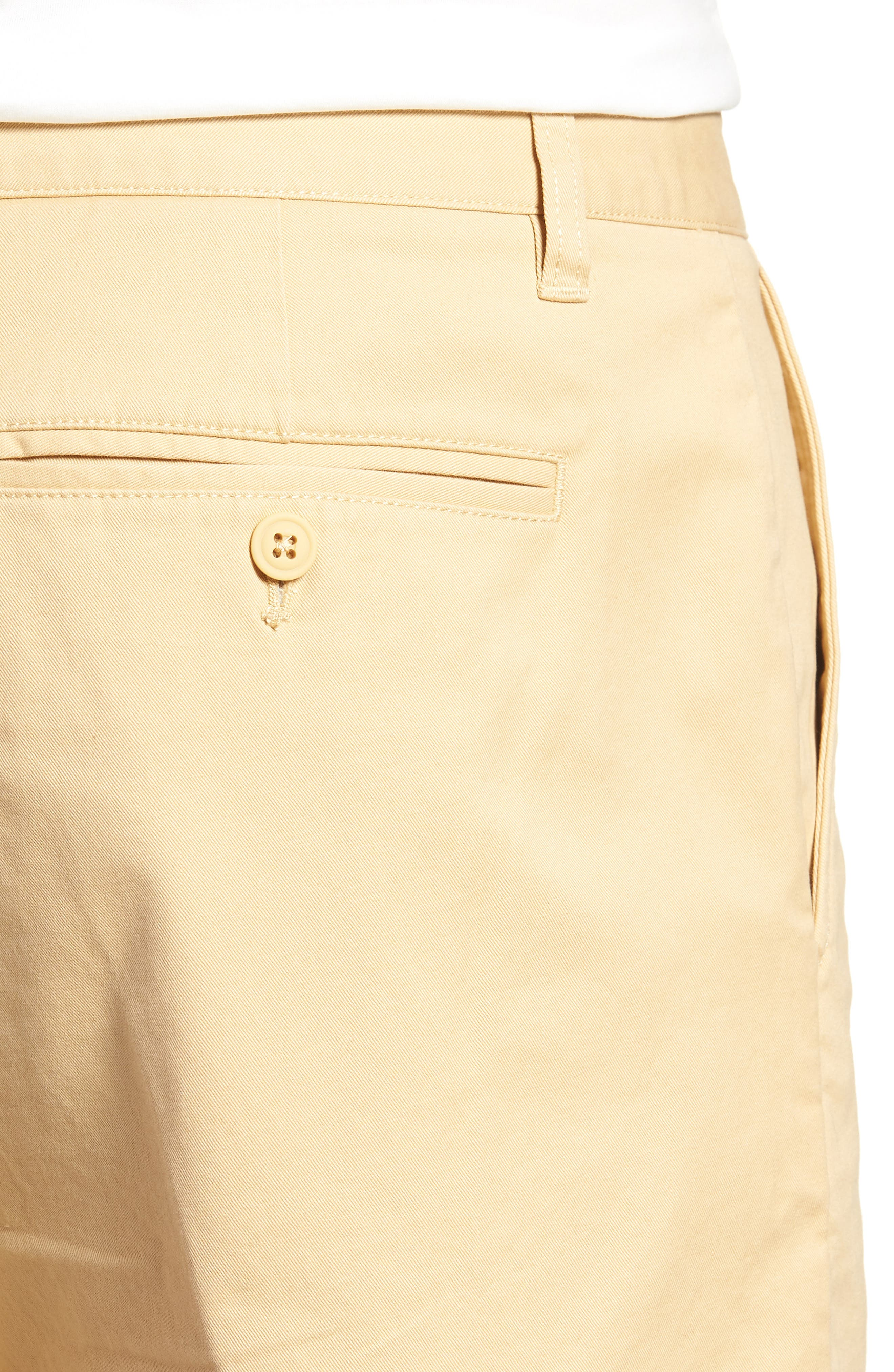 Stretch Washed Chino 5-Inch Shorts,                             Alternate thumbnail 4, color,                             Gold Khaki