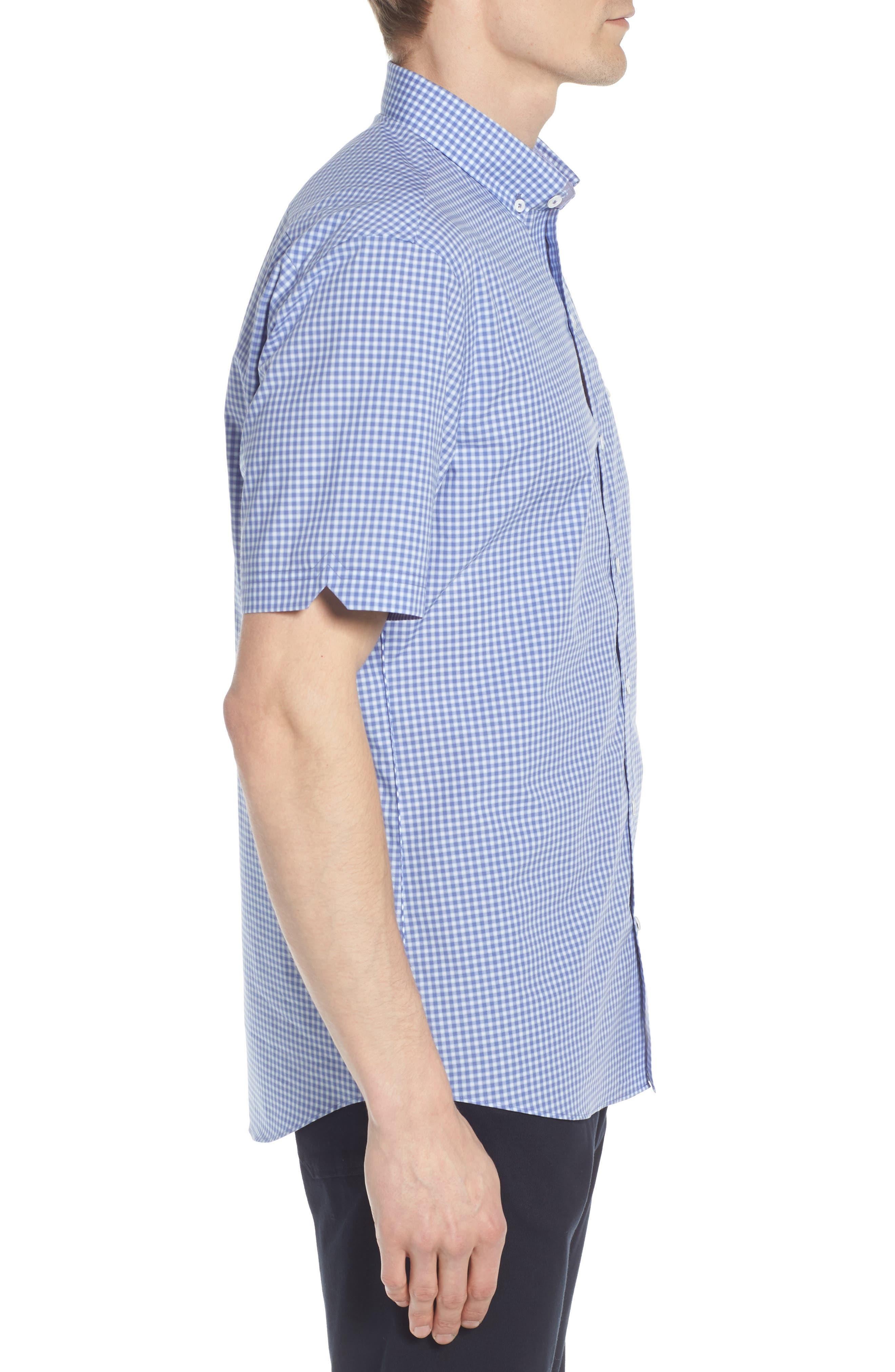 Giovinco Plaid Sport Shirt,                             Alternate thumbnail 4, color,                             Ocean
