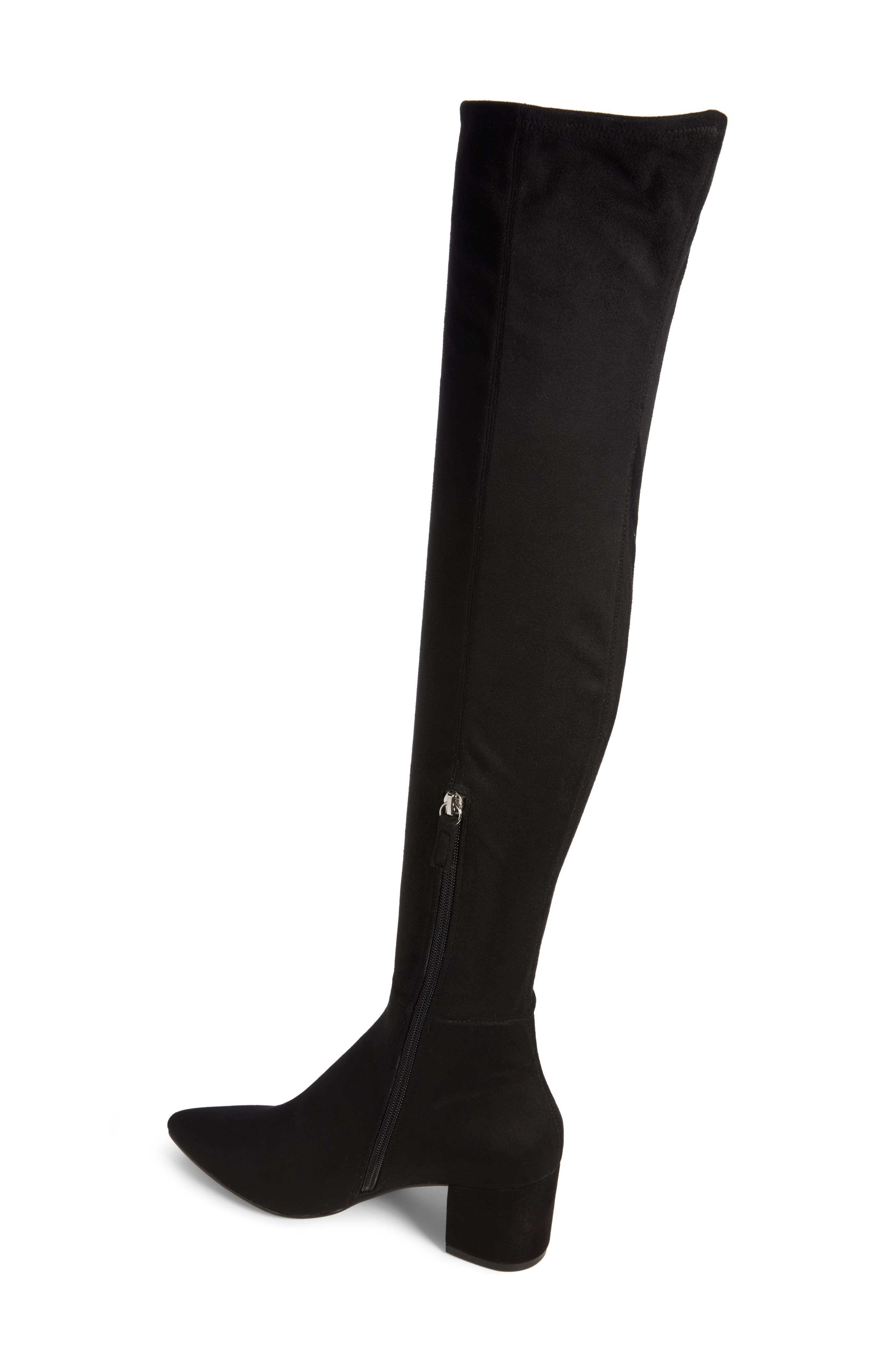 Brinkley Over the Knee Stretch Boot,                             Alternate thumbnail 2, color,                             Black Suede