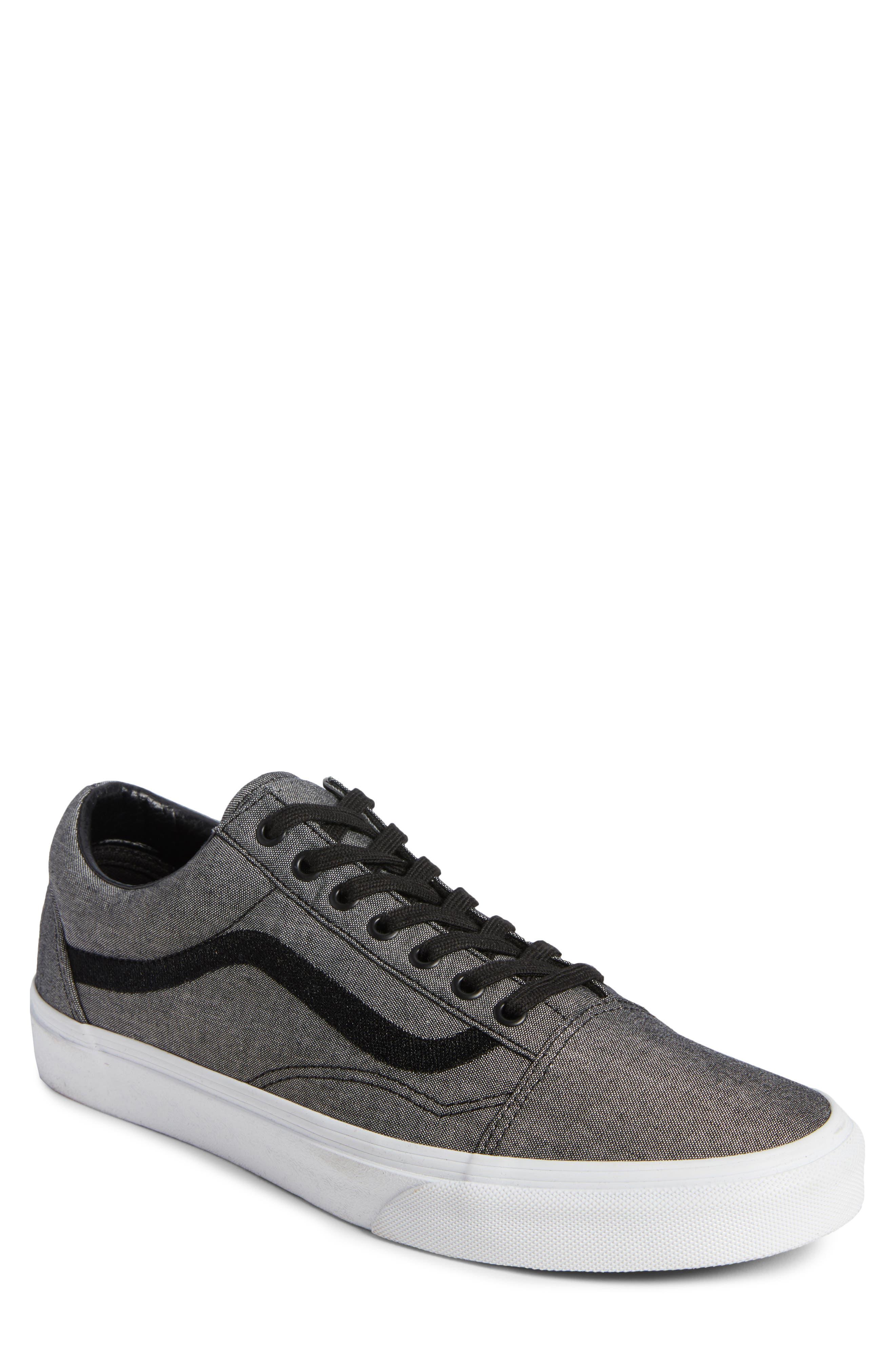 Old Skool Sneaker,                         Main,                         color, Black/ True White/ Grey
