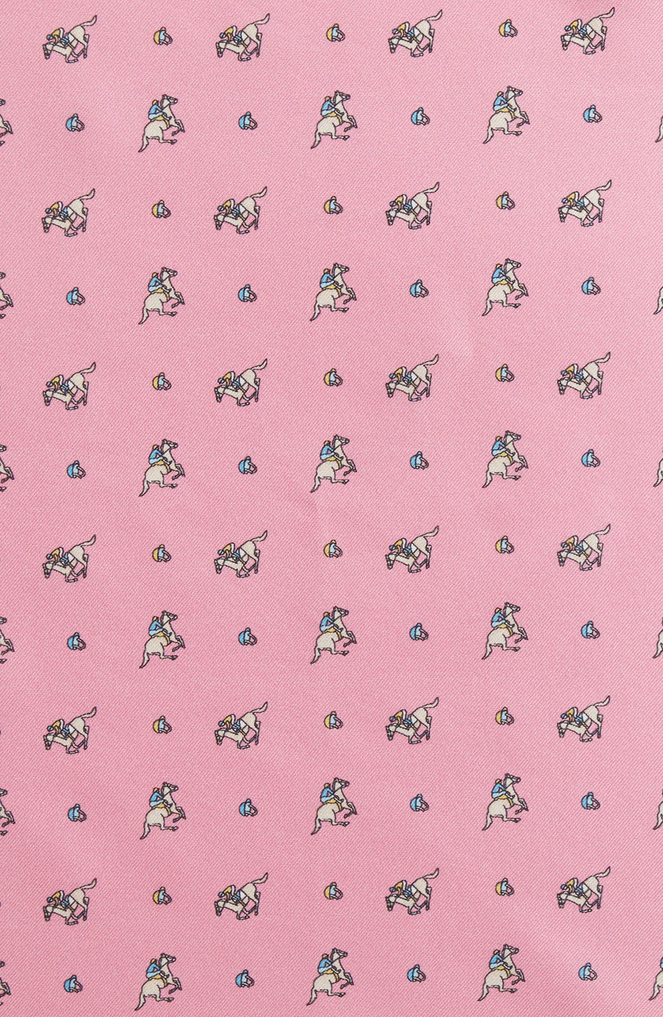 Riding Derby Silk Pocket Square,                             Alternate thumbnail 3, color,                             Pink