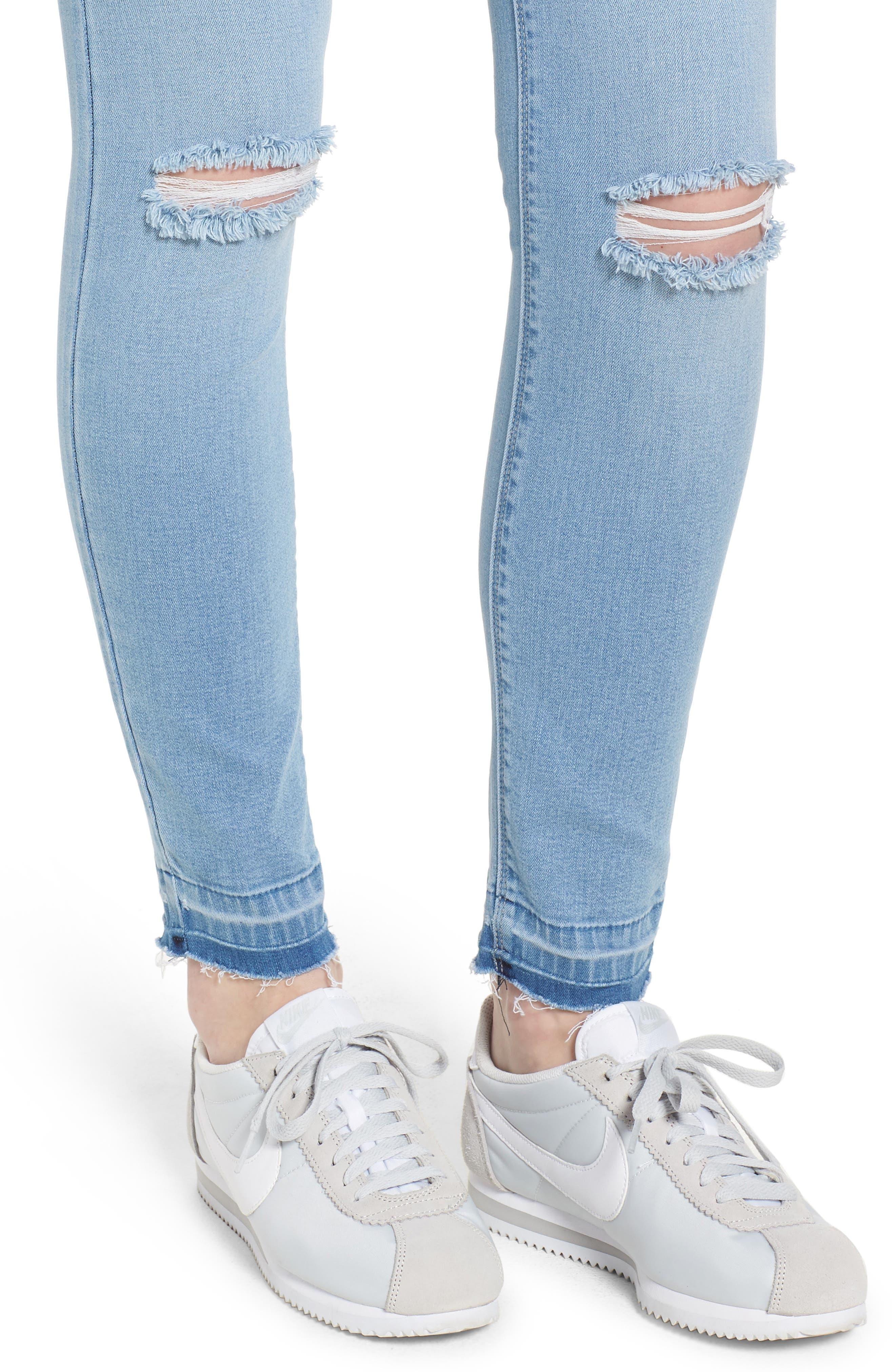 Release Hem Skinny Jeans,                             Alternate thumbnail 4, color,                             Ashley