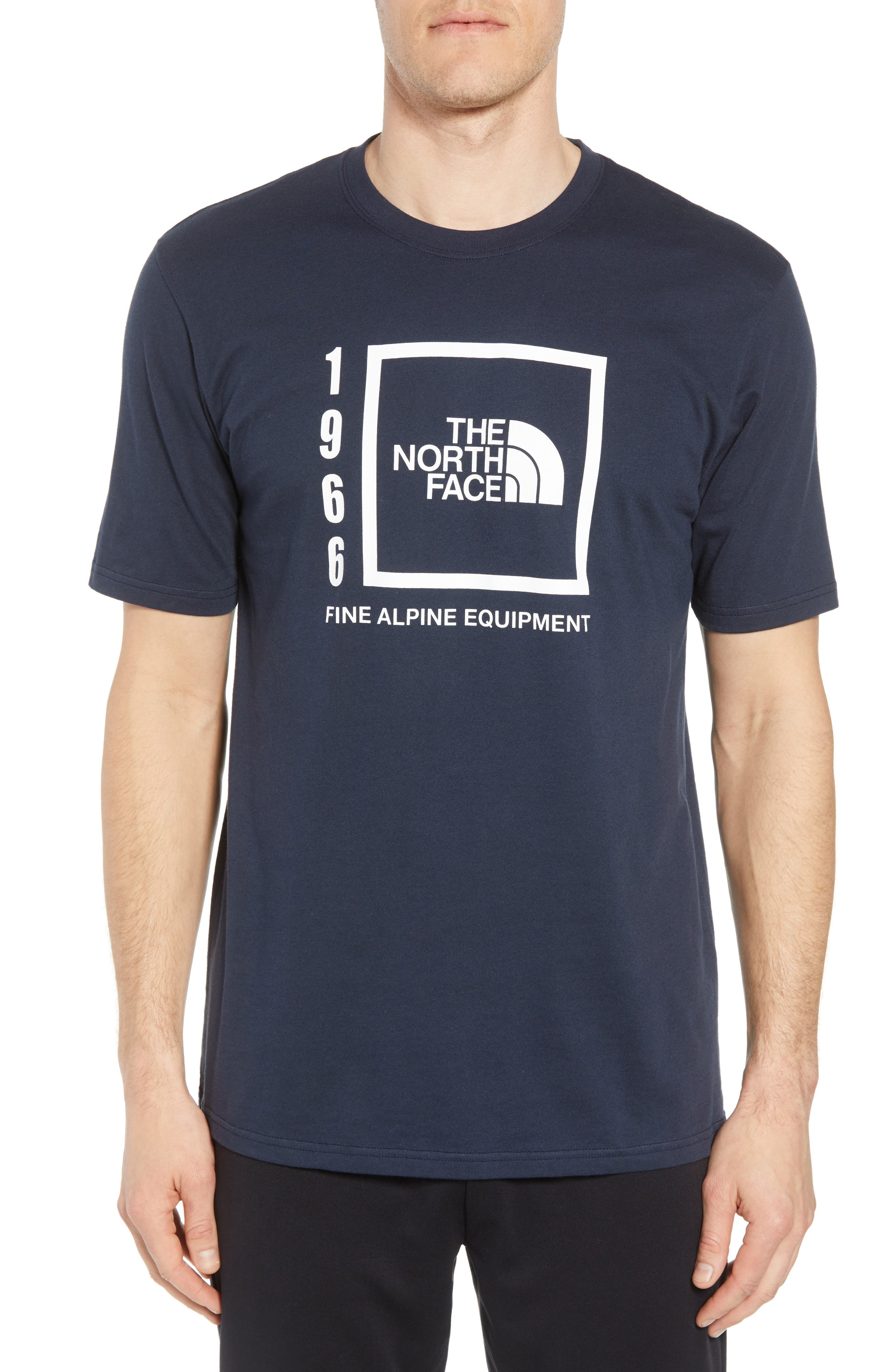 1966 Box Crewneck Cotton T-Shirt,                         Main,                         color, Urban Navy