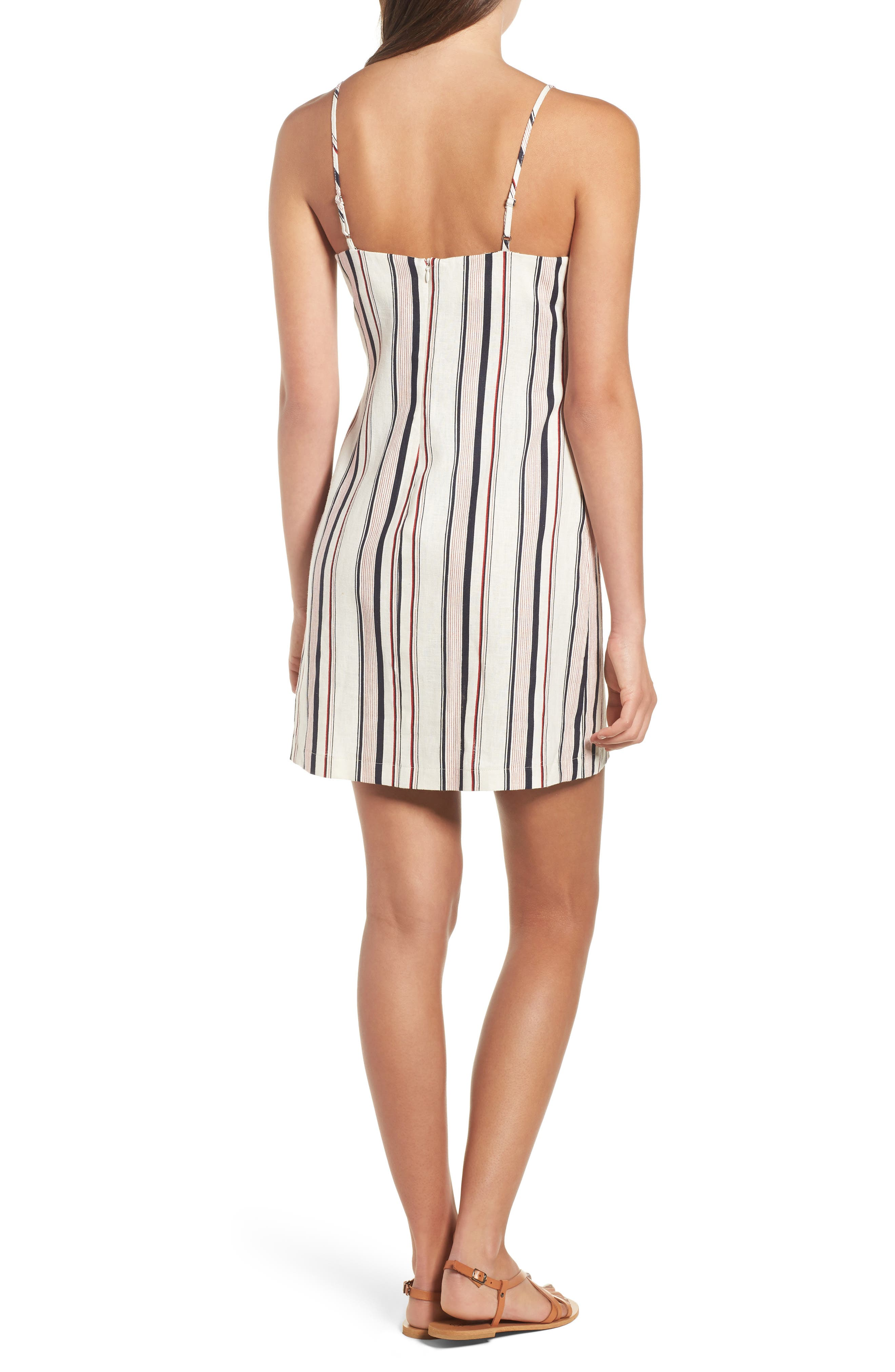 Striped Shift Dress,                             Alternate thumbnail 2, color,                             Navy Red Stripe