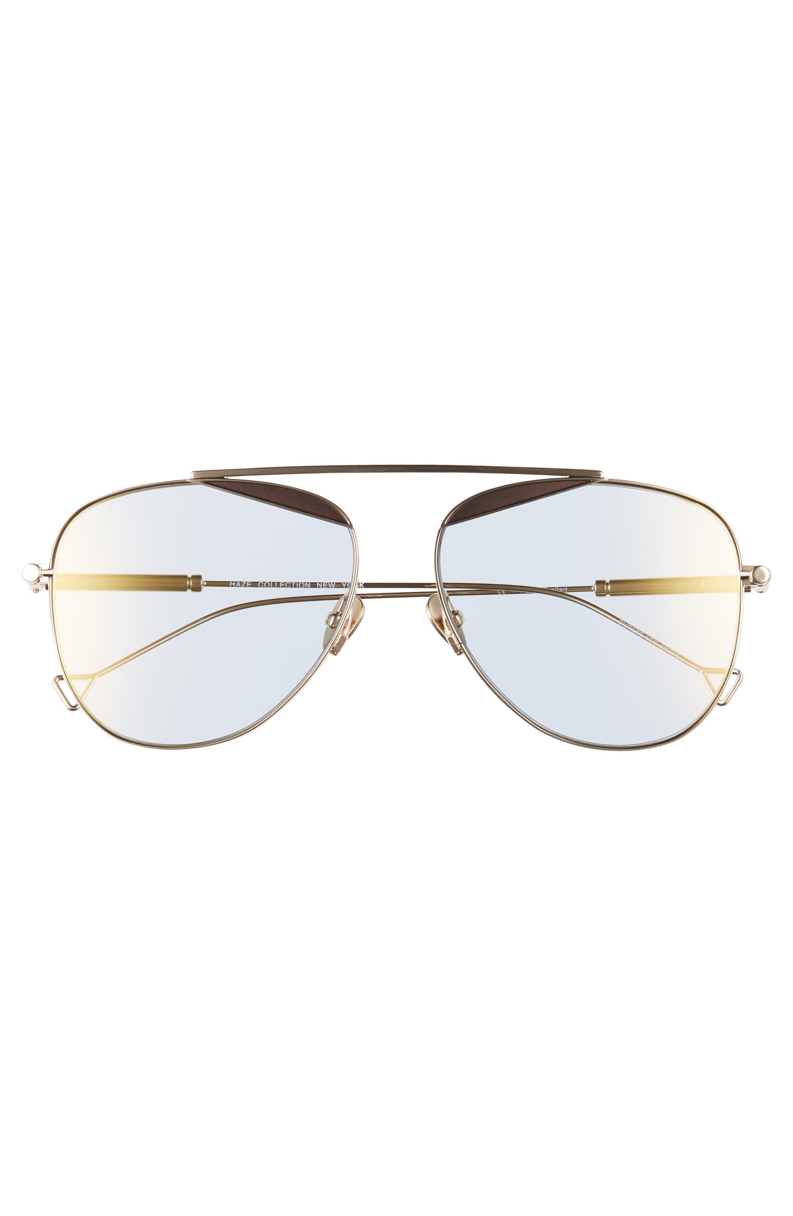The Durete 58mm Aviator Sunglasses,                             Alternate thumbnail 3, color,                             Golden