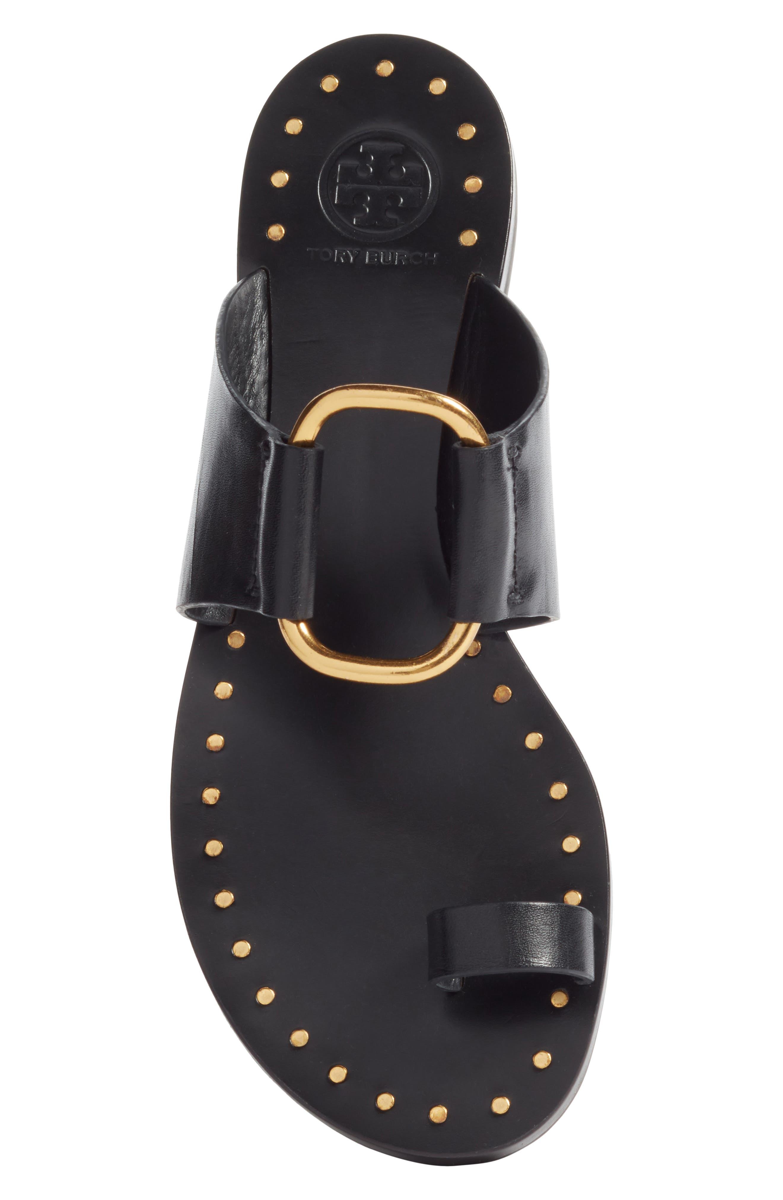 Brannan Studded Sandal,                             Alternate thumbnail 5, color,                             Perfect Black
