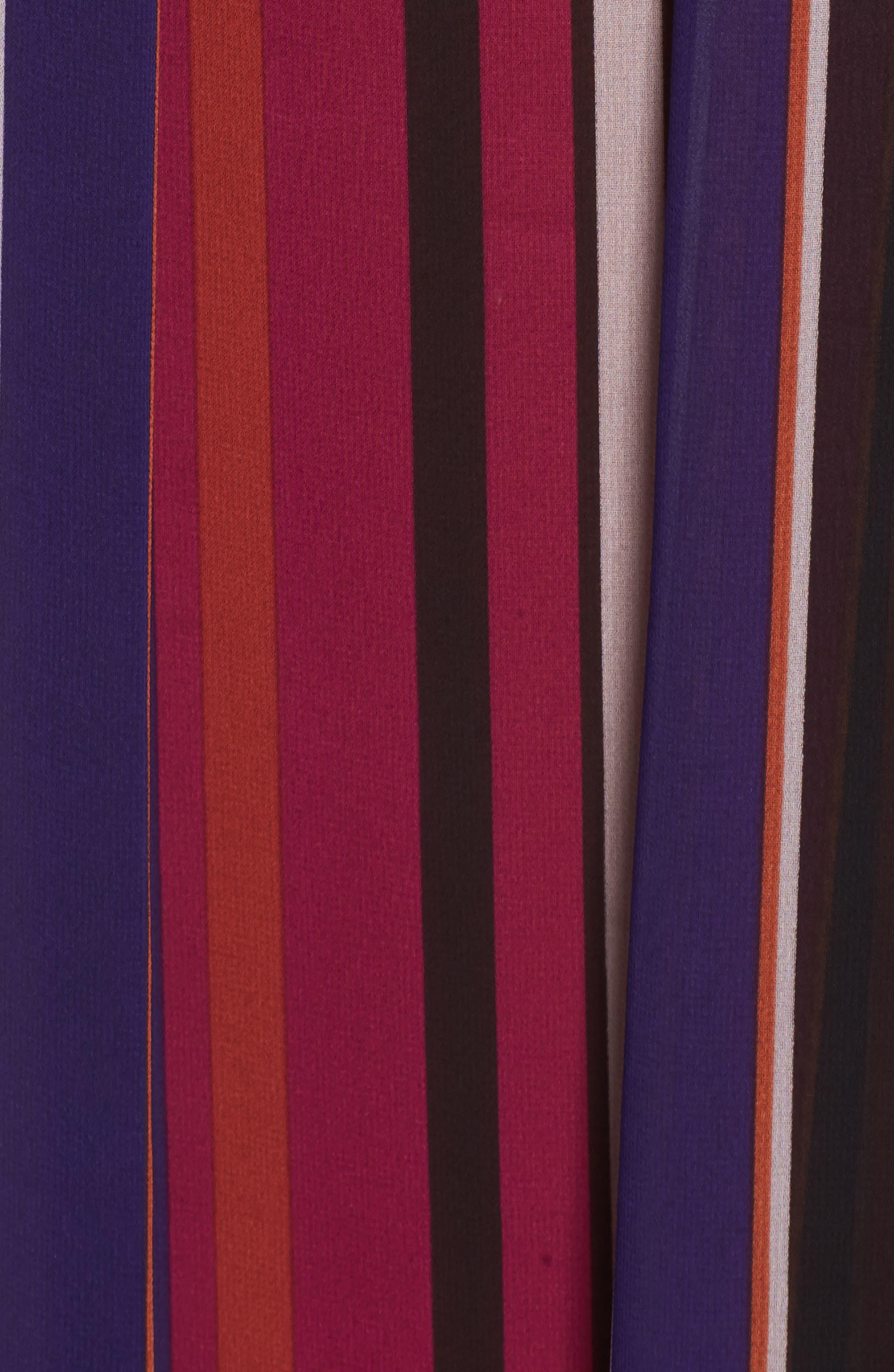 Striped Midi Skirt,                             Alternate thumbnail 5, color,                             African Violet Combo
